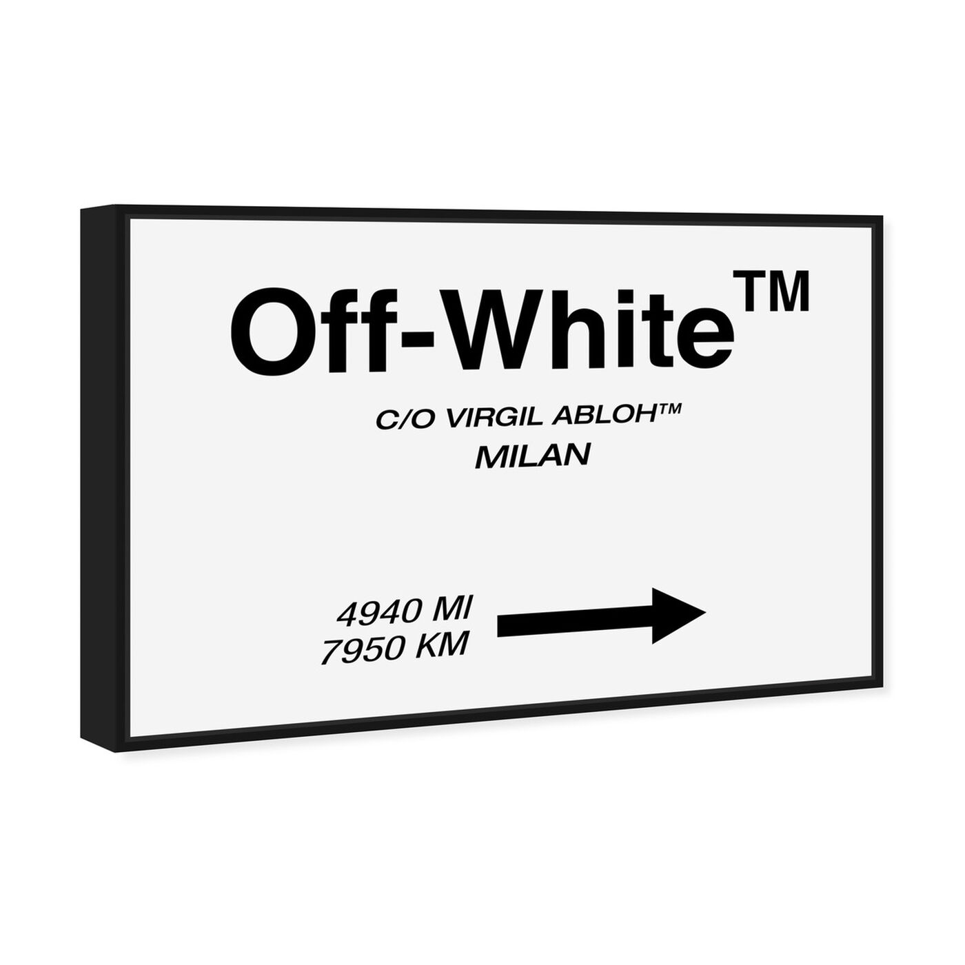 Angled view of OFF Road Sign Minimalist featuring fashion and glam and road signs art.
