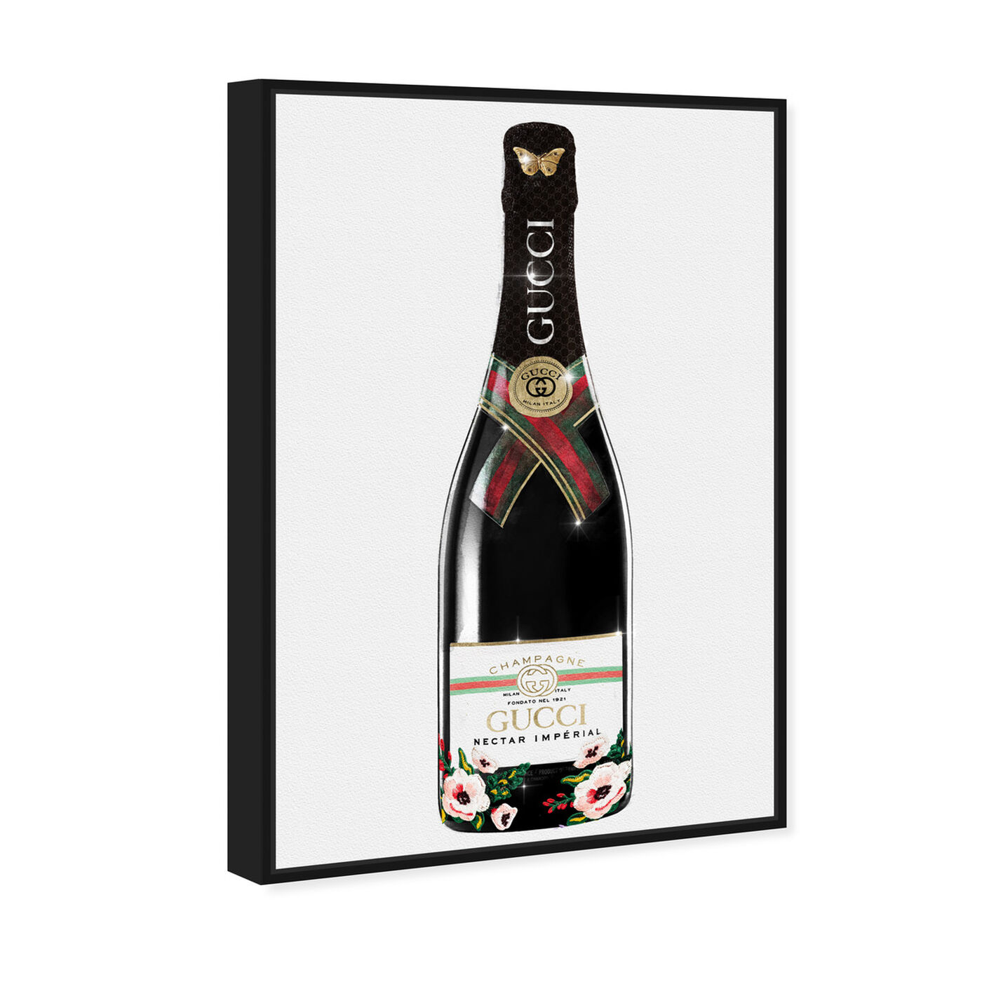 Angled view of Italian Mod Champagne featuring fashion and glam and lifestyle art.