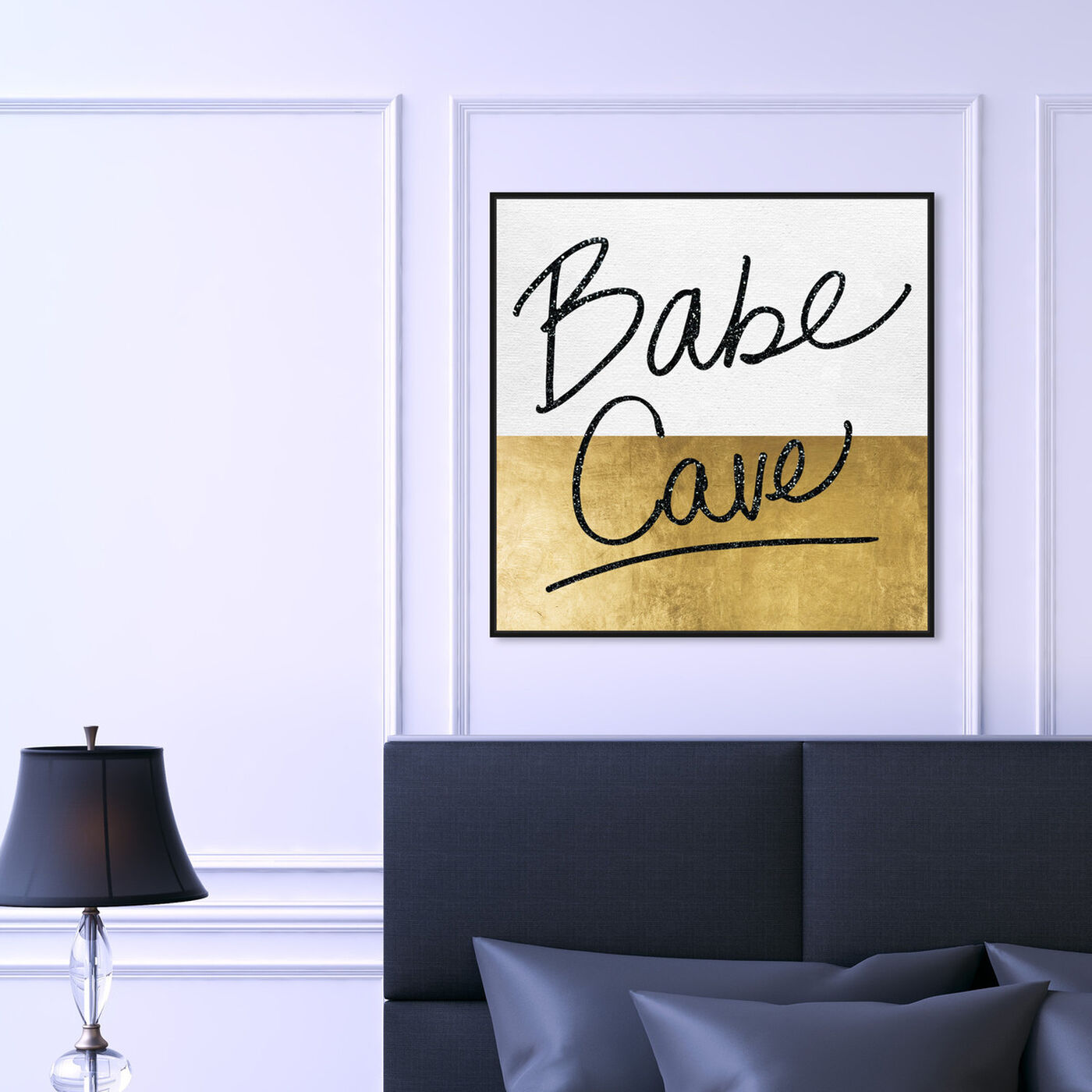 Hanging view of Babe Cave featuring typography and quotes and empowered women quotes and sayings art.