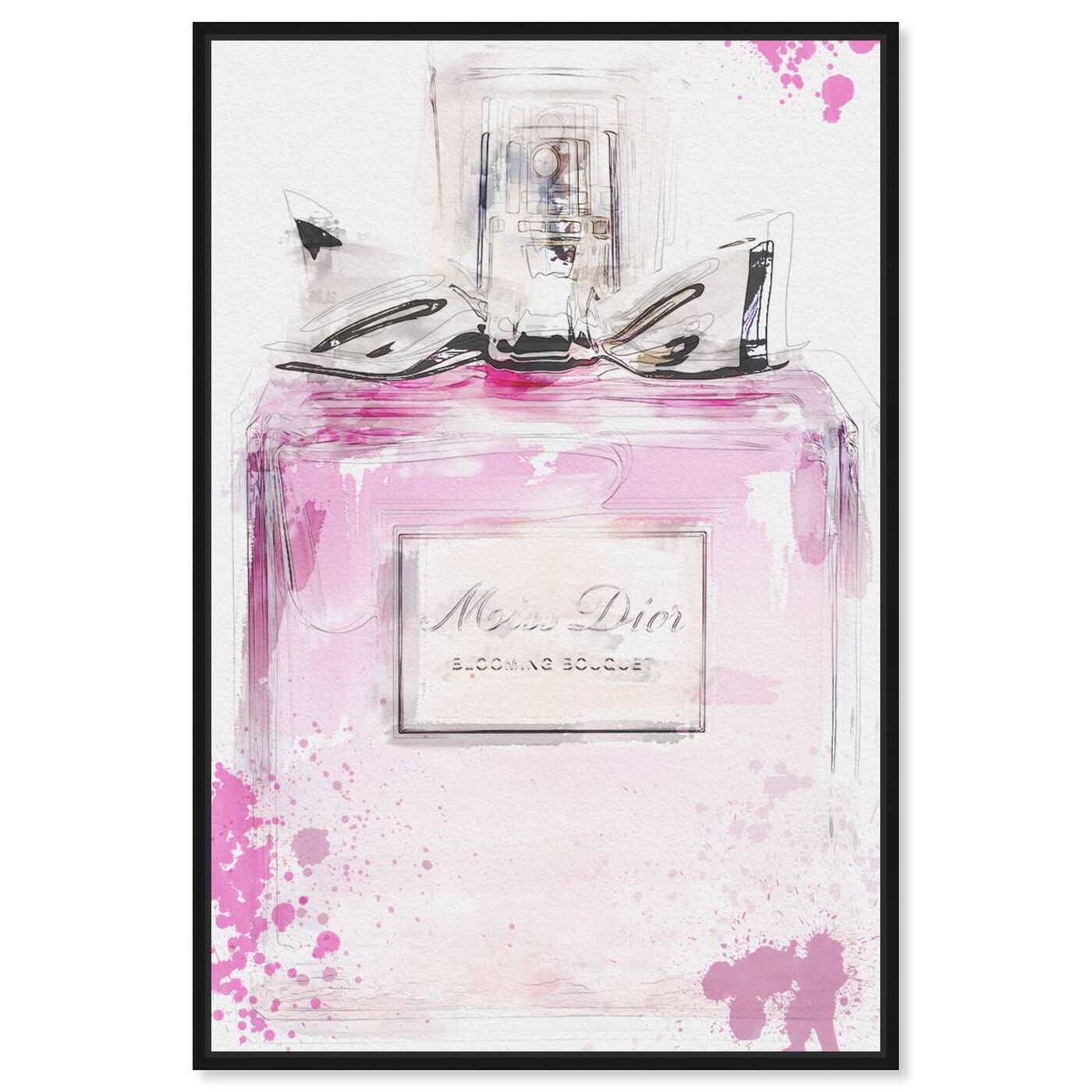 Front view of Perfume and Bow featuring fashion and glam and perfumes art.