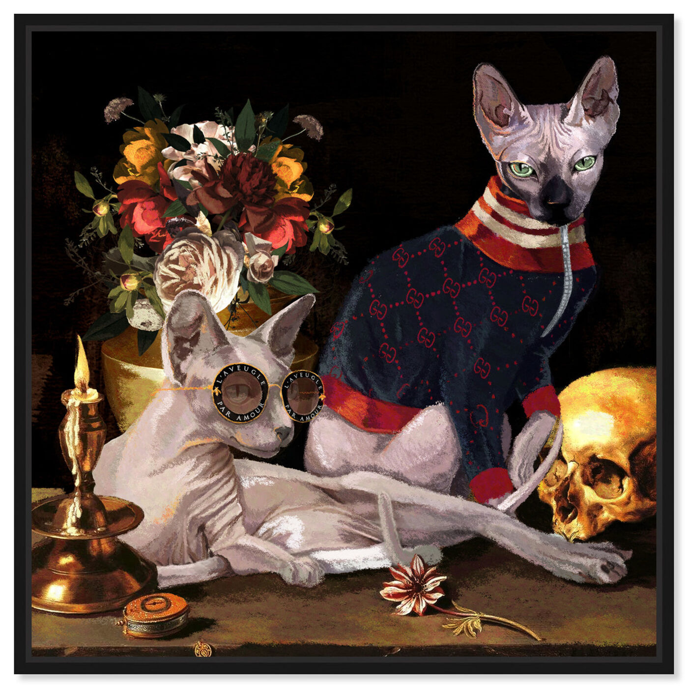 Front view of Vanitas Icons featuring animals and cats and kitties art.