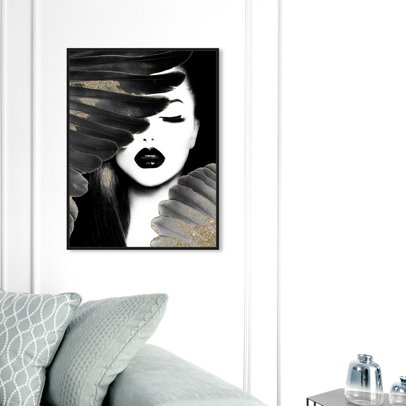 Hanging view of Dutchess and Angel featuring fashion and glam and portraits art.