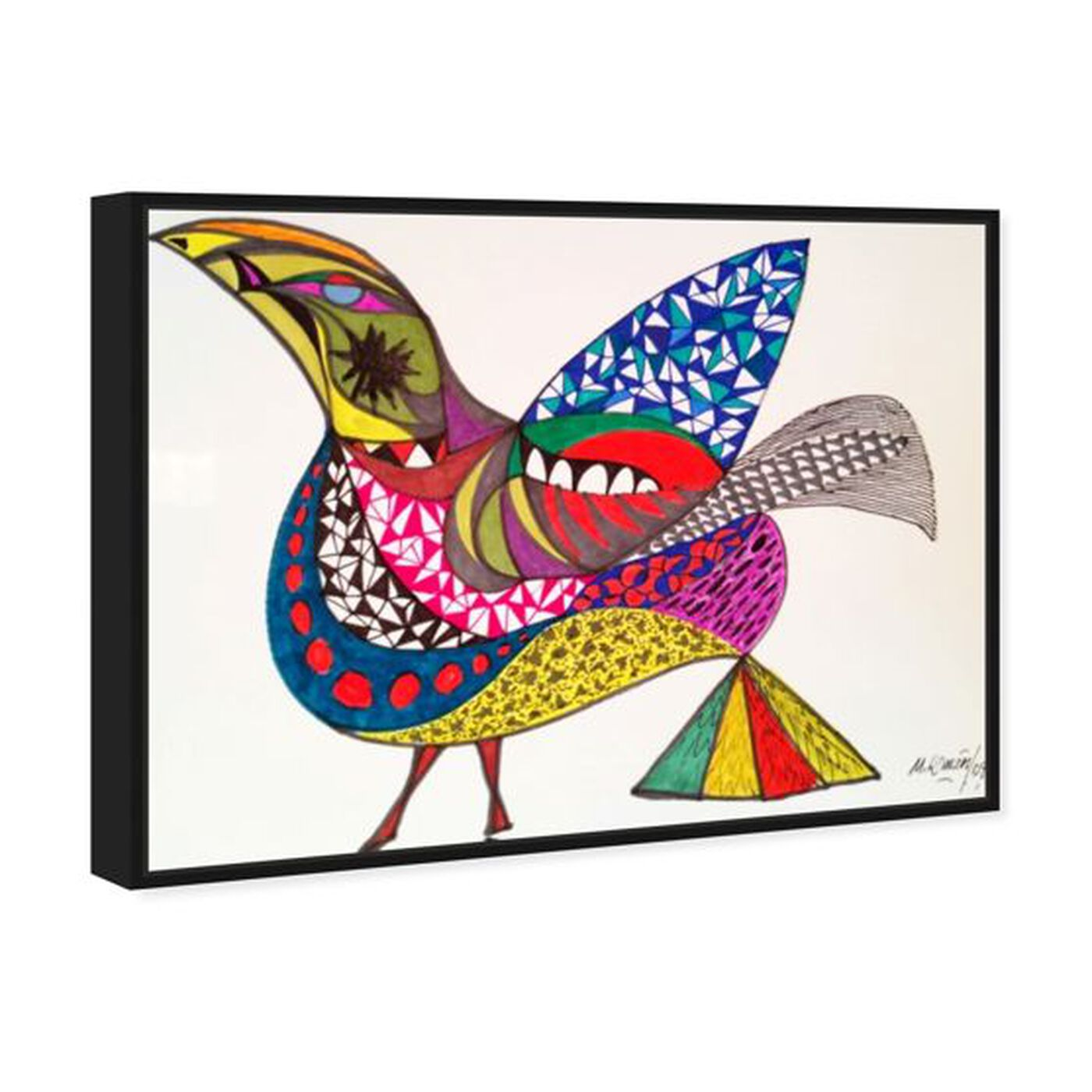 Angled view of Bird featuring animals and birds art.
