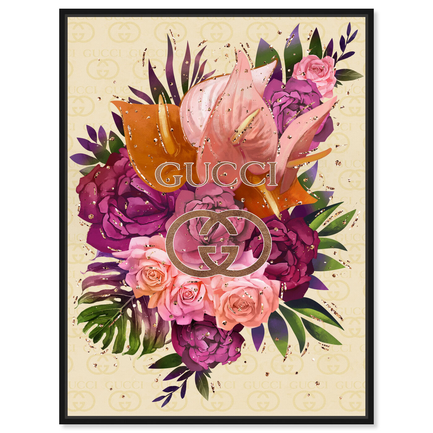 Front view of Firenze Floral featuring floral and botanical and florals art.