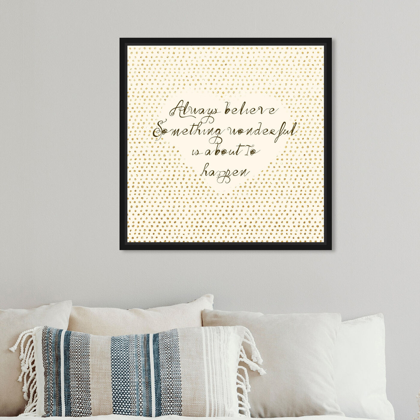 Hanging view of Something Wonderful featuring typography and quotes and inspirational quotes and sayings art.