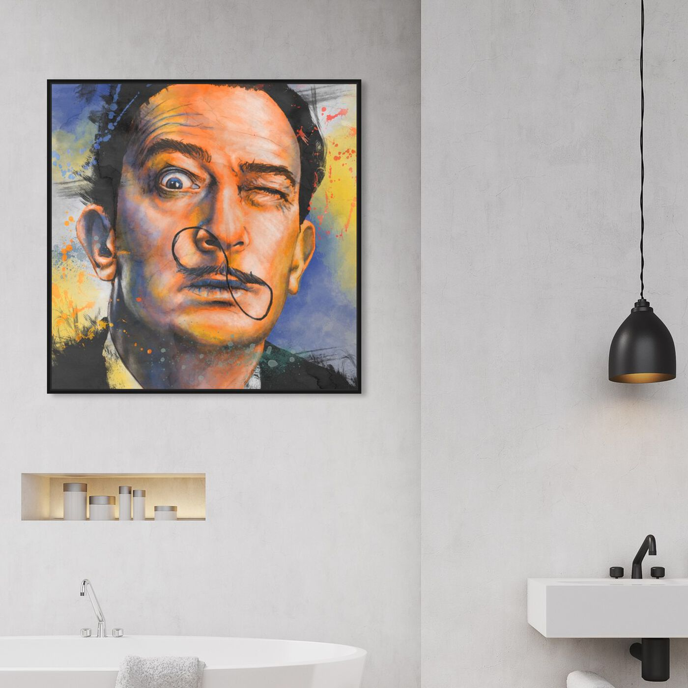 Hanging view of The Surrealist featuring people and portraits and celebrities art.