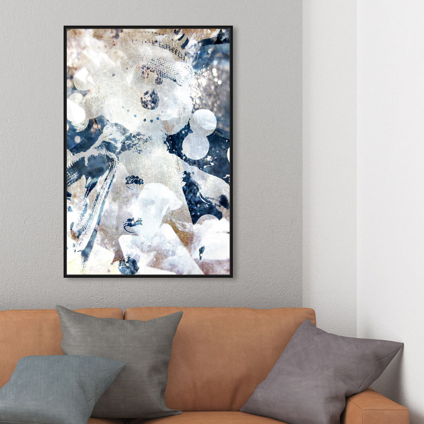 Hanging view of Snocool featuring abstract and textures art.