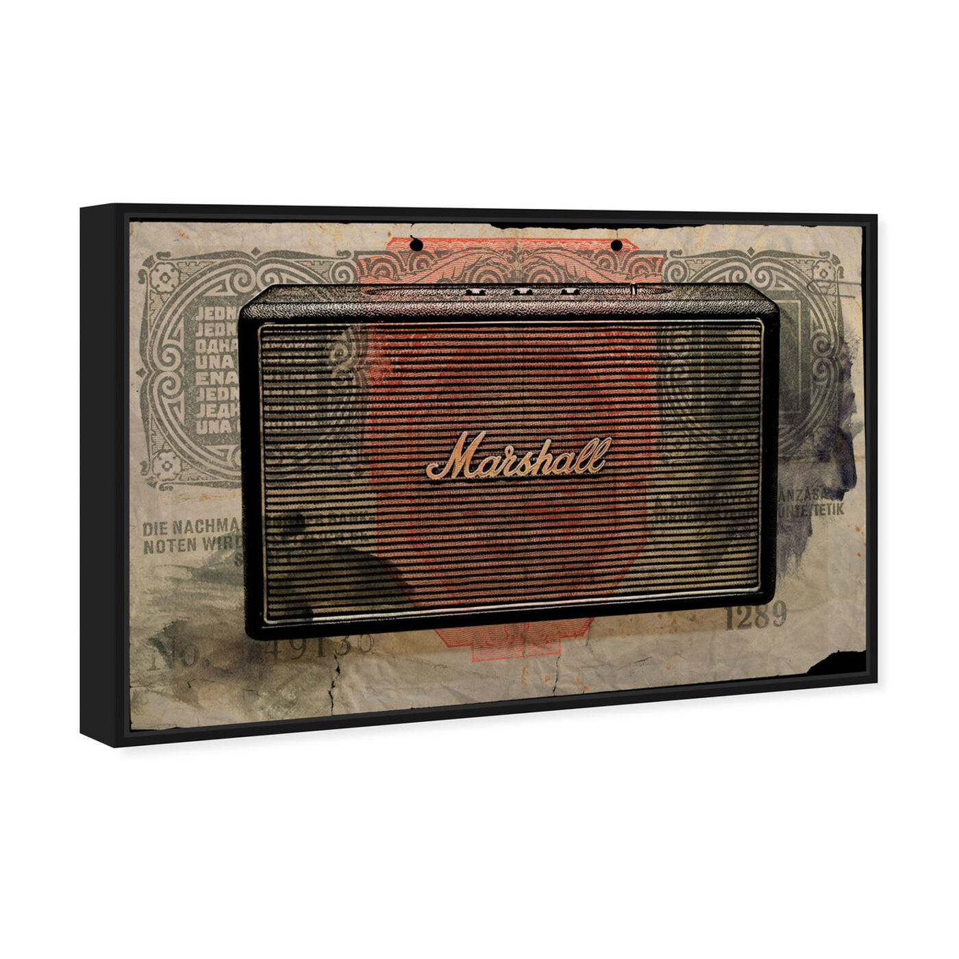 Angled view of Marshall Audio featuring music and dance and music instruments art.