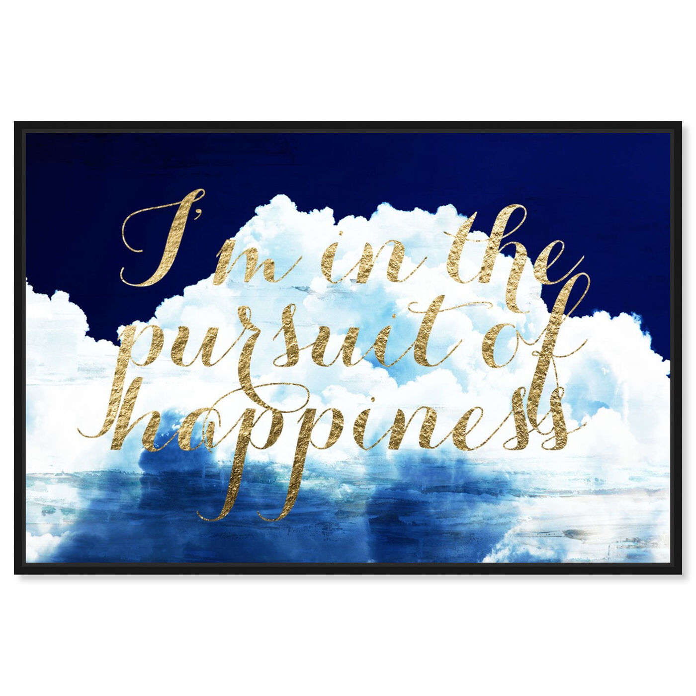 Front view of Happiness Overall featuring typography and quotes and inspirational quotes and sayings art.