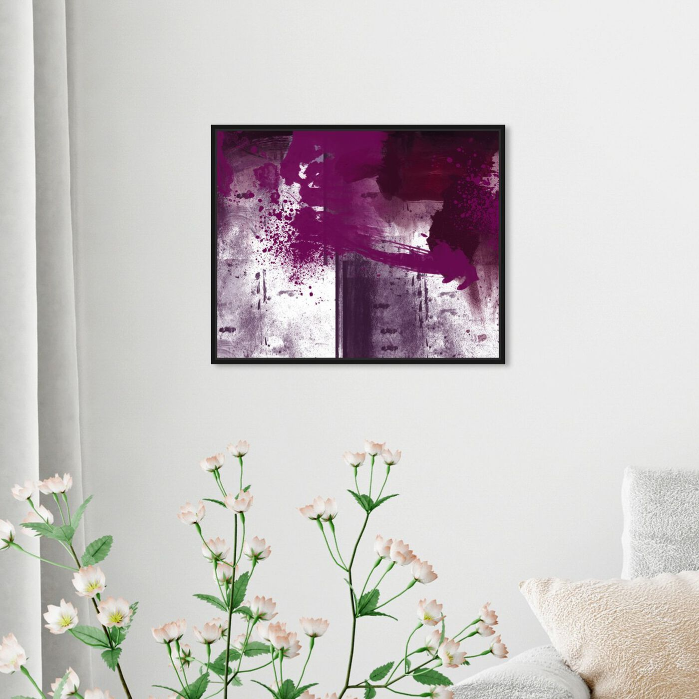 Hanging view of Violet Substance featuring abstract and paint art.