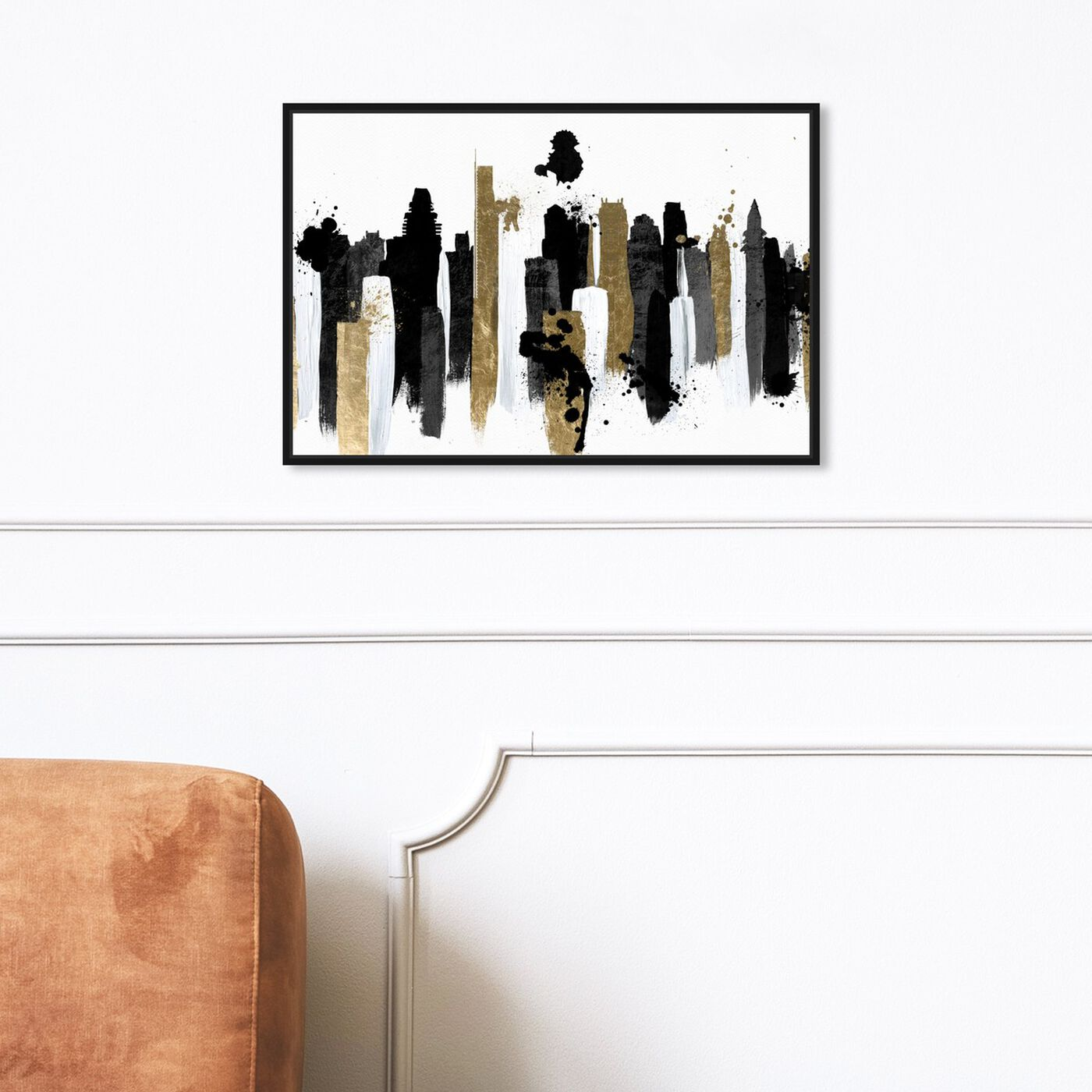 Hanging view of Glamorous Boston featuring abstract and paint art.