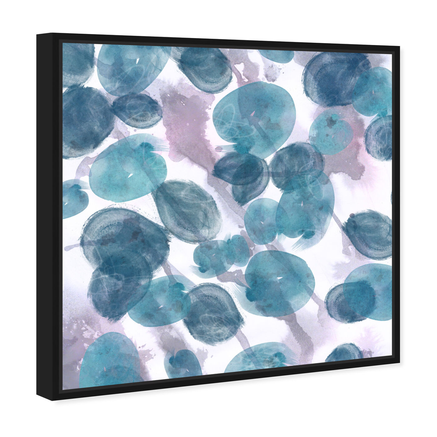Angled view of Bubbles featuring abstract and paint art.