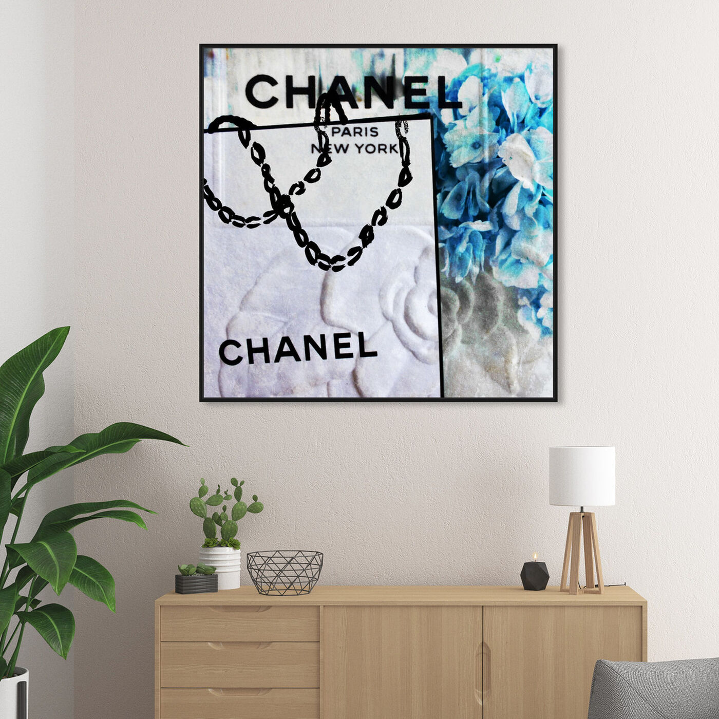 Hanging view of French Hydrangea featuring fashion and glam and fashion art.