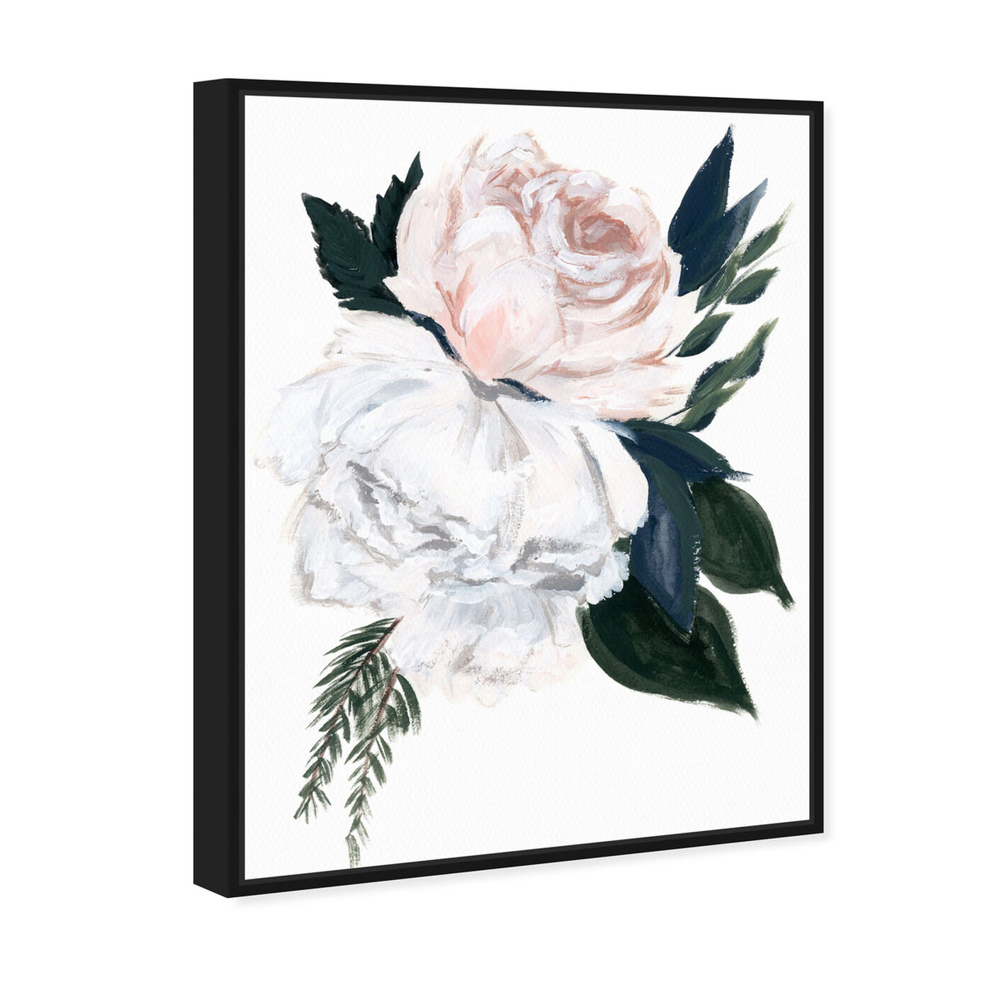Angled view of Rustic Peony Bouquet featuring floral and botanical and florals art.