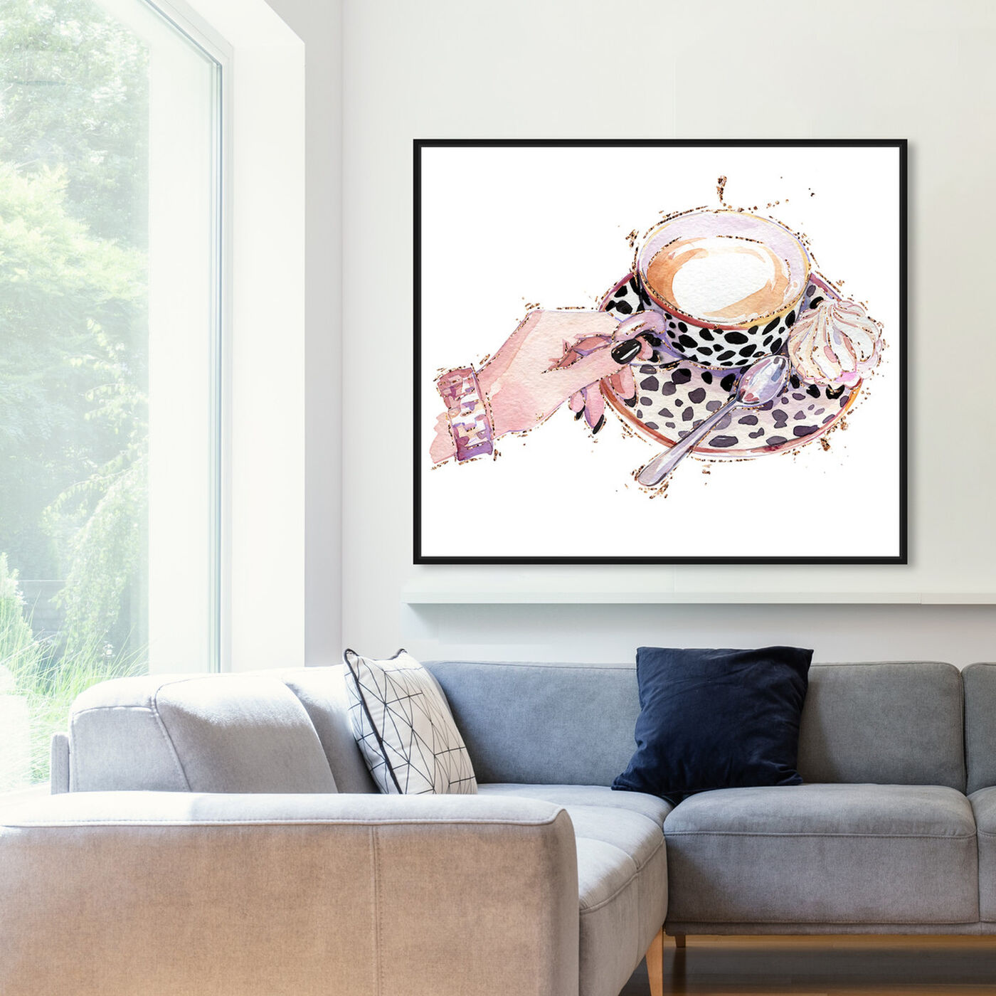 Hanging view of Sweet Meringue and Coffee featuring drinks and spirits and coffee art.