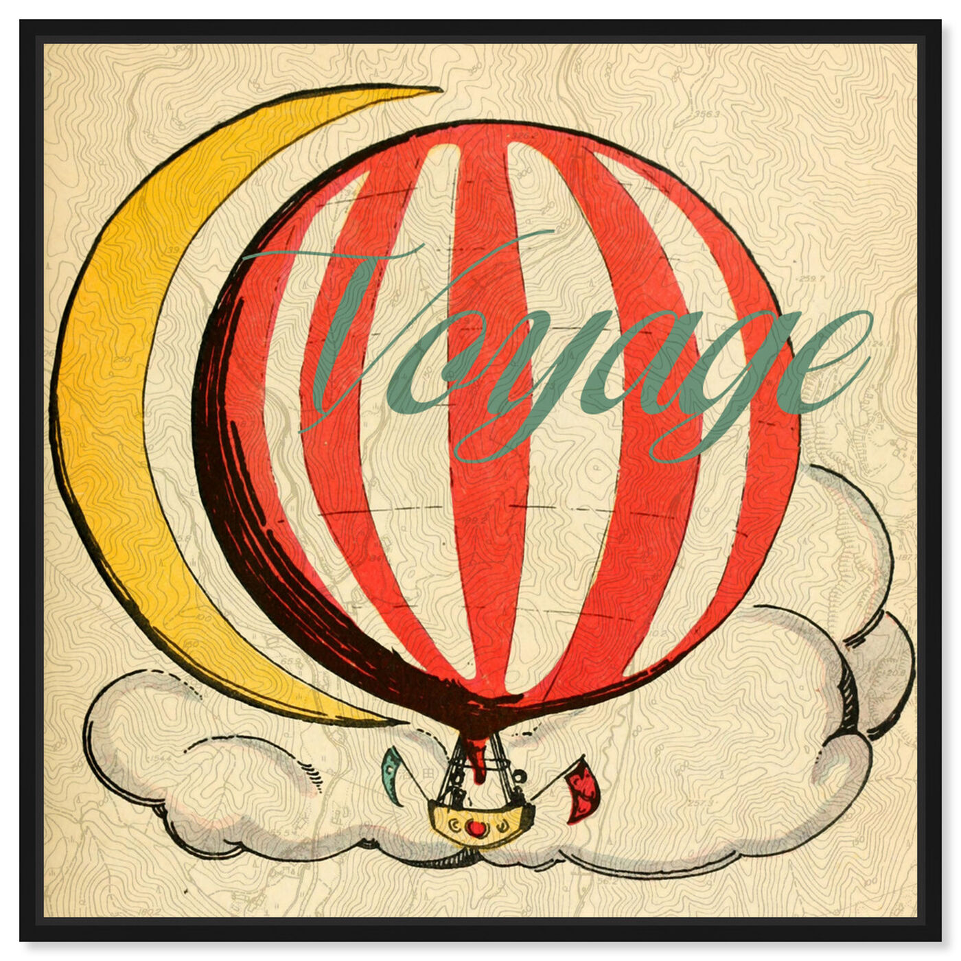 Front view of Voyage Enfants featuring astronomy and space and moons art.