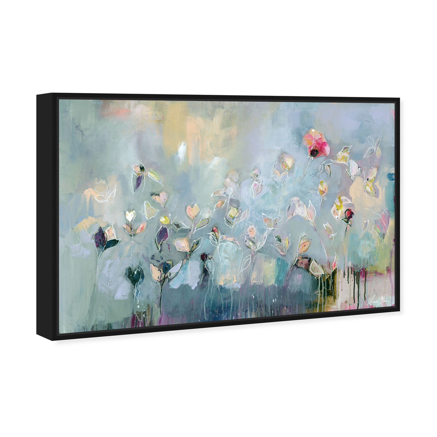 Angled view of Michaela Nessim - Infinitely Divine featuring abstract and flowers art.