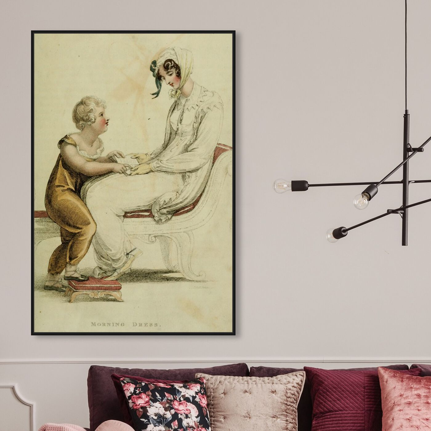 Hanging view of Morning Dress - The Art Cabinet featuring classic and figurative and realism art.