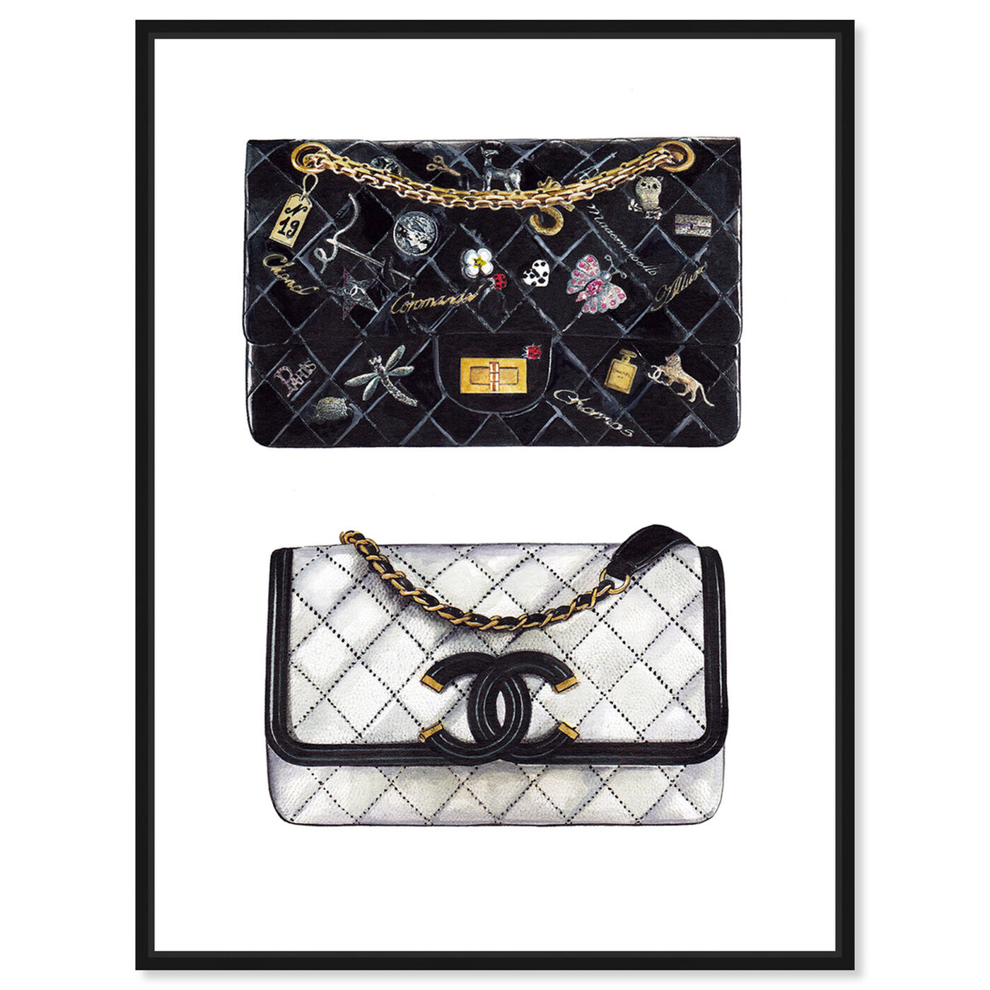 Front view of Doll Memories - Iconic Boy Bag featuring fashion and glam and handbags art.