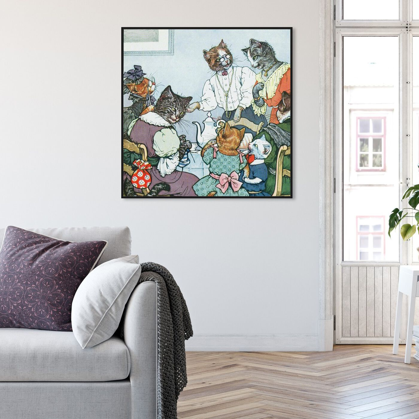 Hanging view of The Cat Family featuring animals and cats and kitties art.