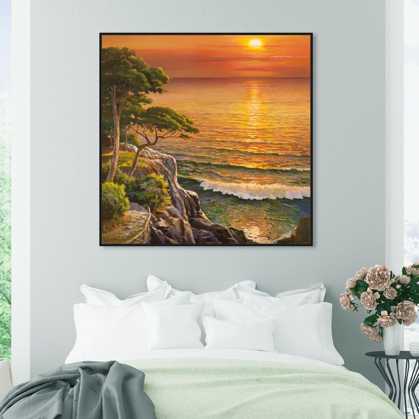 Hanging view of Sai - Sunset Visage 1AD2552 featuring nature and landscape and sunrise and sunsets art.