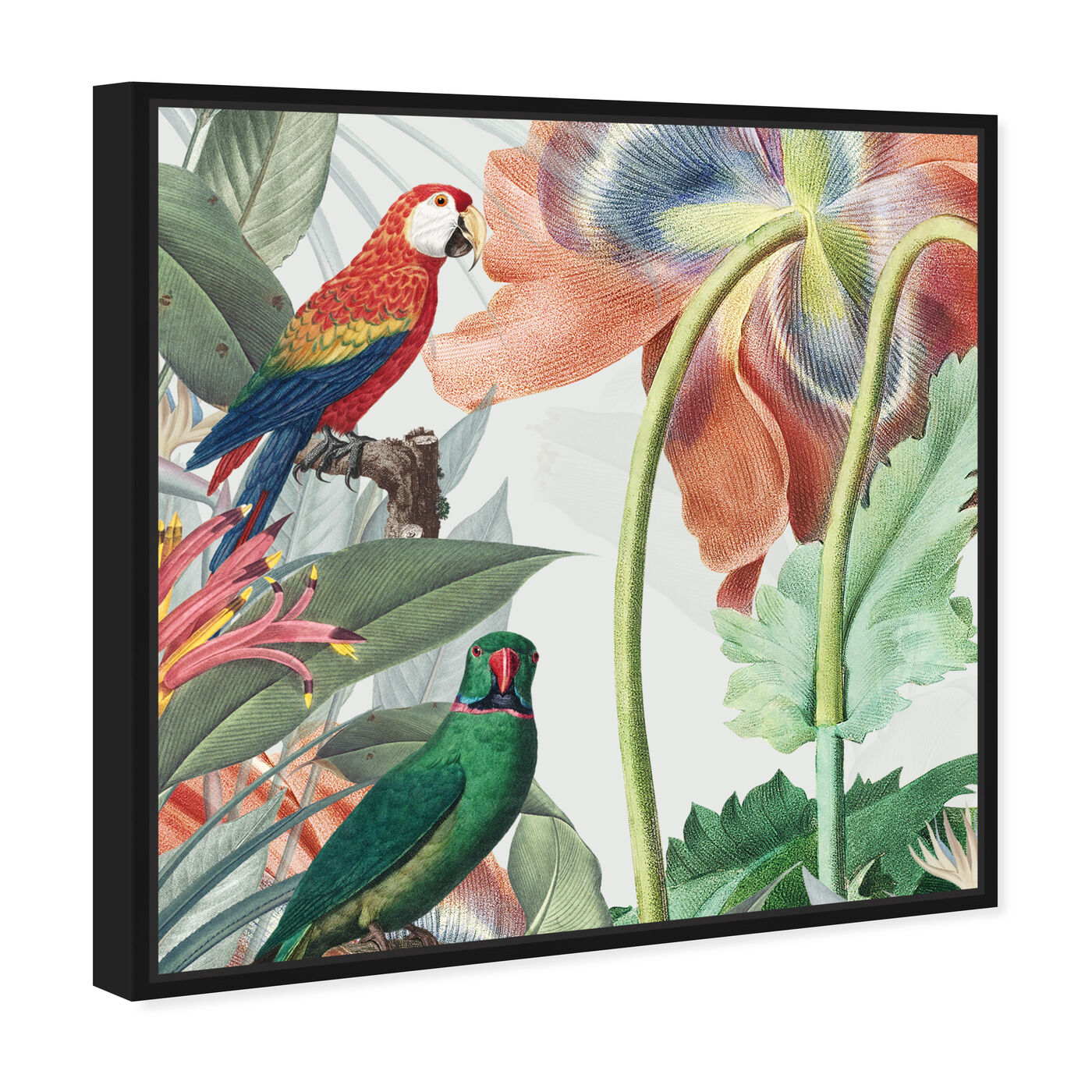 Angled view of Natura 2 featuring animals and birds art.