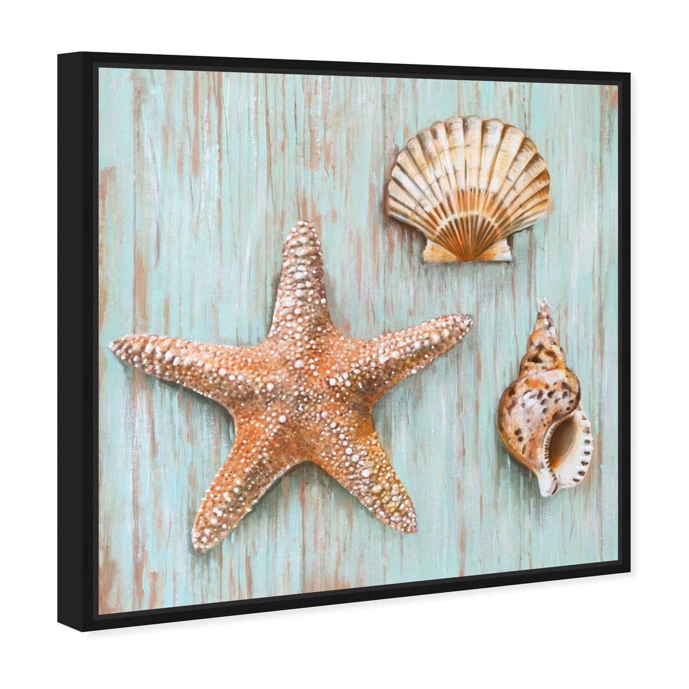 Angled view of SAI - Maritimas Treasures featuring nautical and coastal and marine life art.