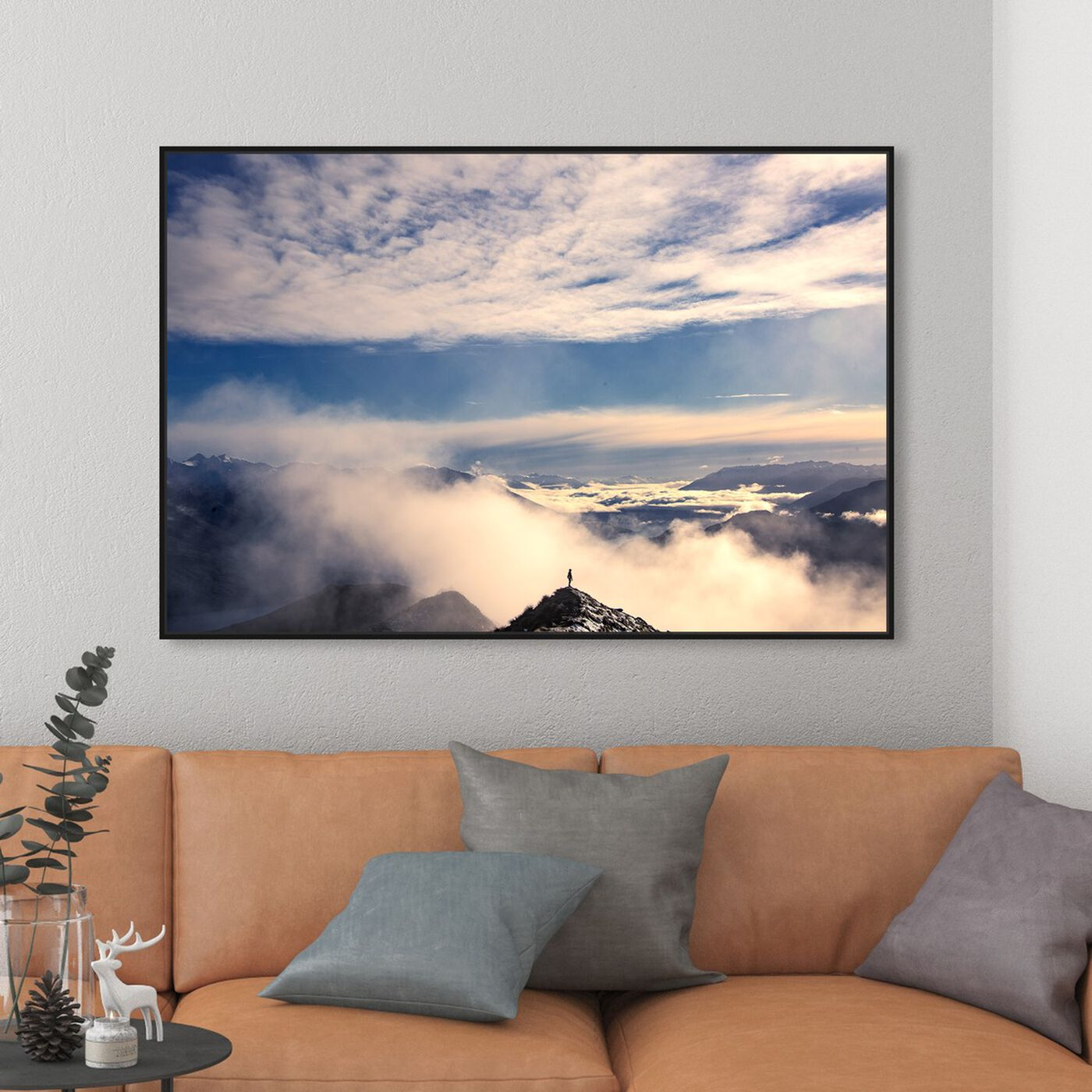 Hanging view of Curro Cardenal - Beyond the Sky featuring nature and landscape and skyscapes art.