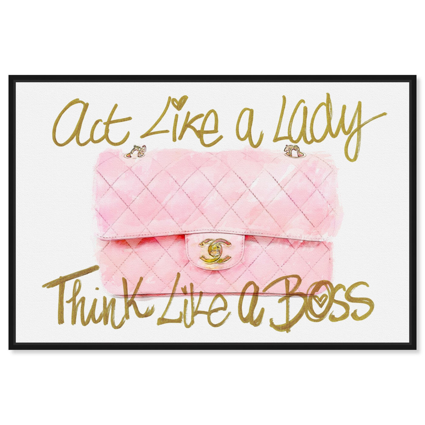 Front view of Like A Lady Boss featuring typography and quotes and empowered women quotes and sayings art.