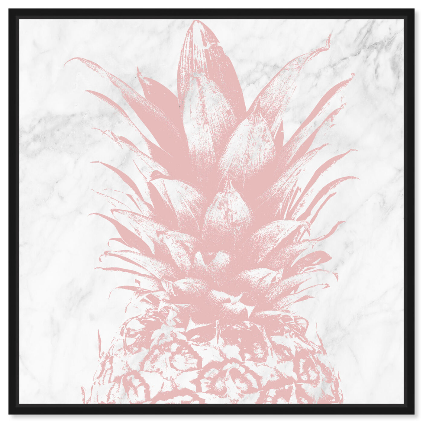 Front view of Pastel Pink Pineapple Marble featuring food and cuisine and fruits art.