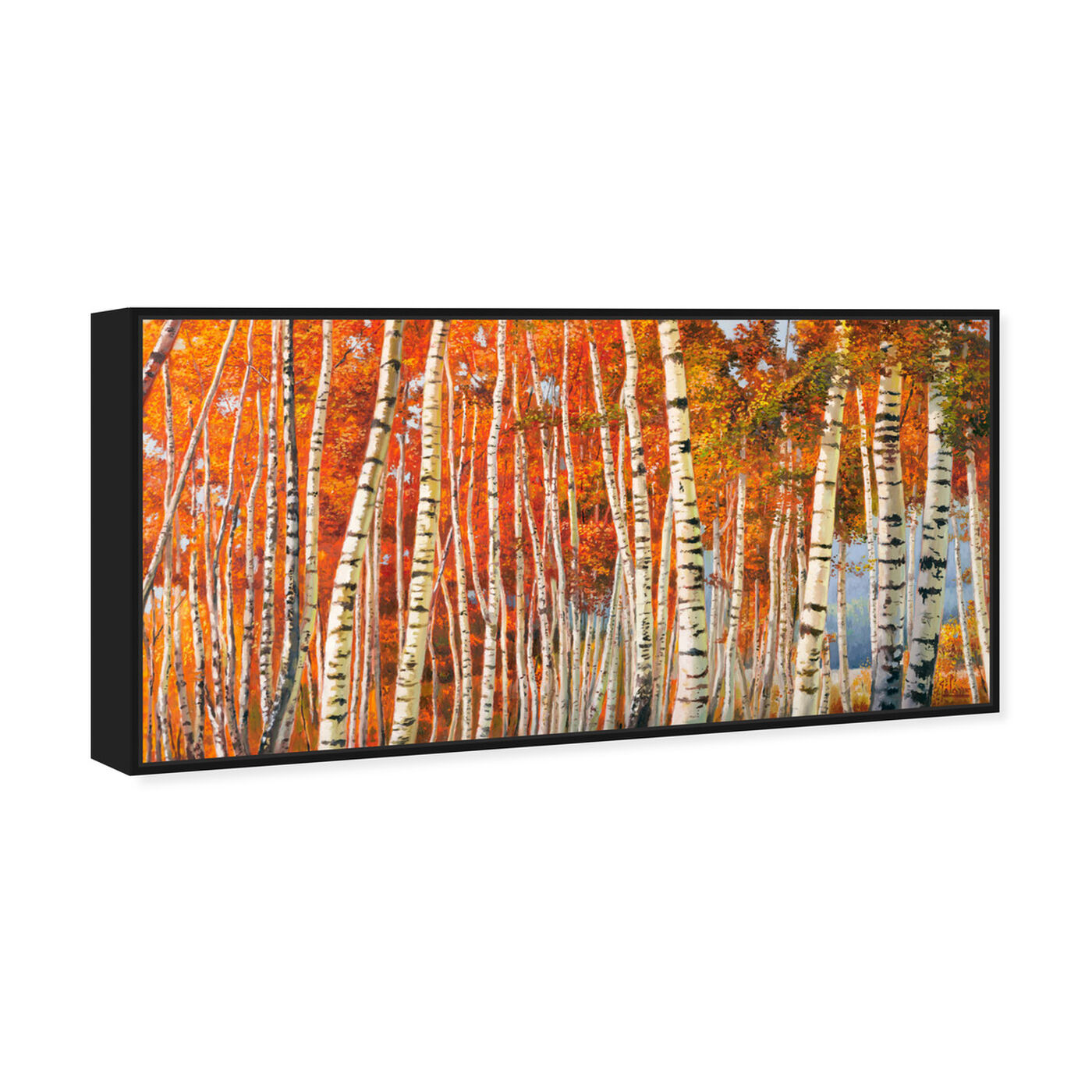 Angled view of SAI - Fall Leaf Tree's featuring nature and landscape and forest landscapes art.