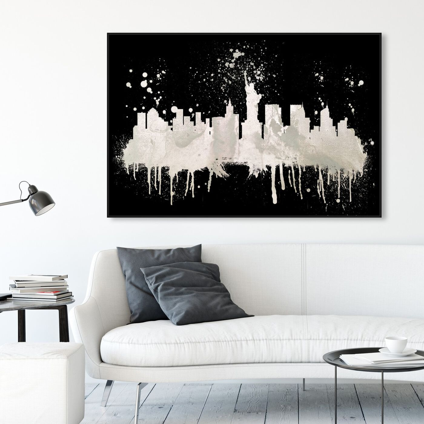 Hanging view of New York Skyline 2 I featuring cities and skylines and united states cities art.
