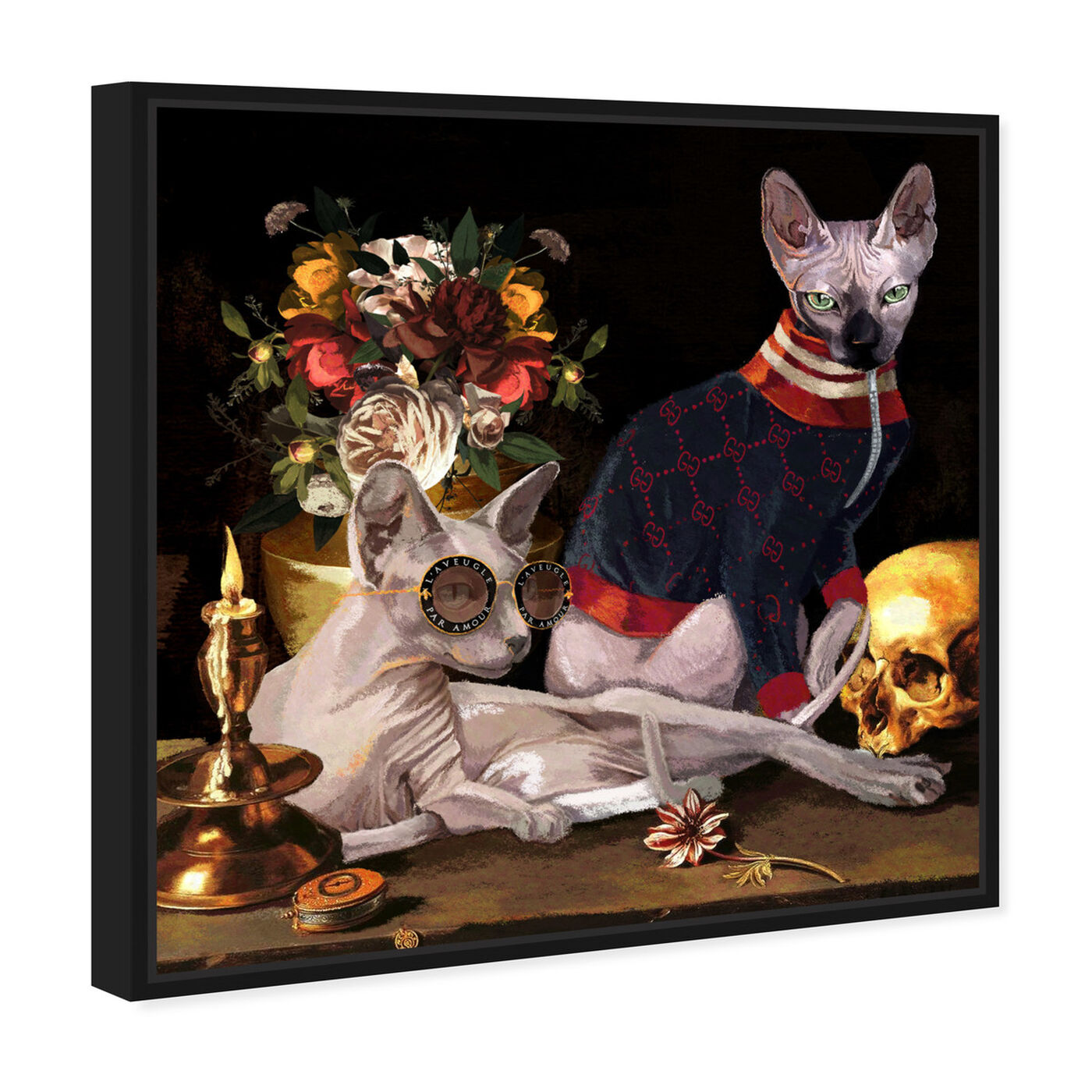 Angled view of Vanitas Icons featuring animals and cats and kitties art.