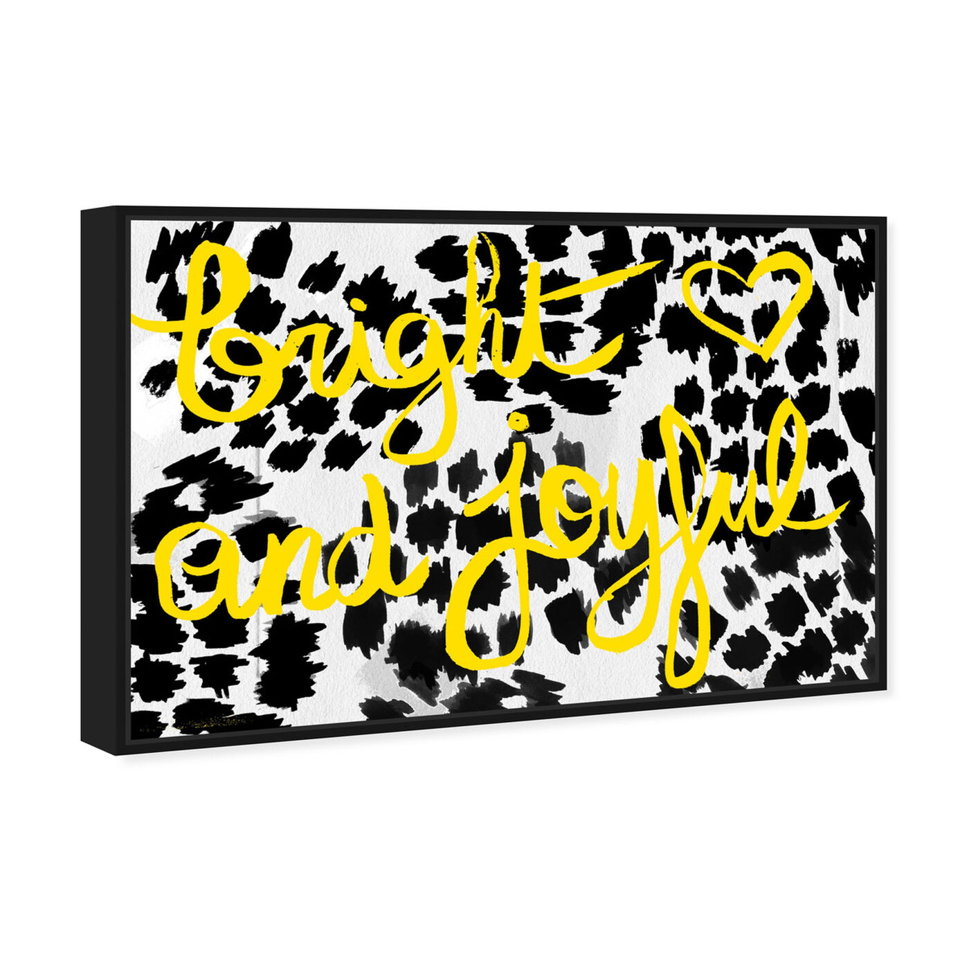 Angled view of Bright and Joyful featuring typography and quotes and inspirational quotes and sayings art.
