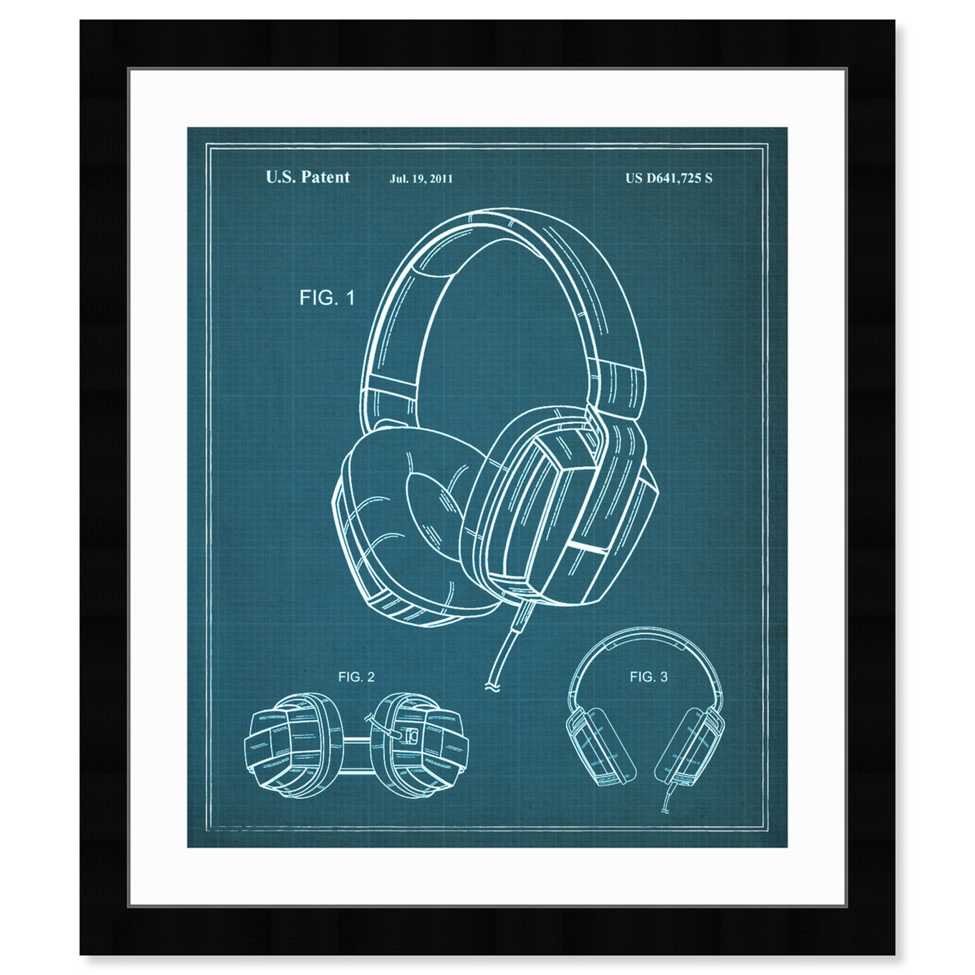 Front view of Headphones 2010 I featuring music and dance and dj art.