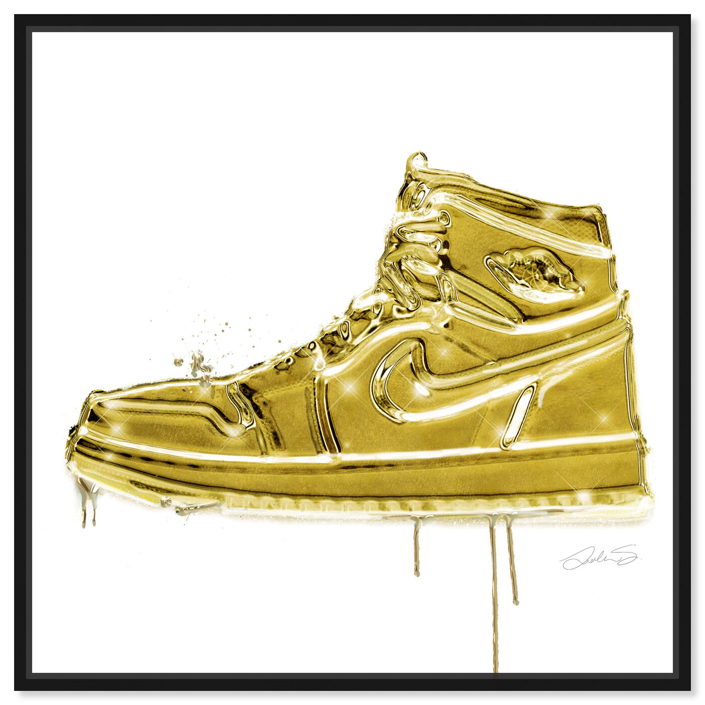 Front view of Lola Air Golden featuring fashion and glam and shoes art.