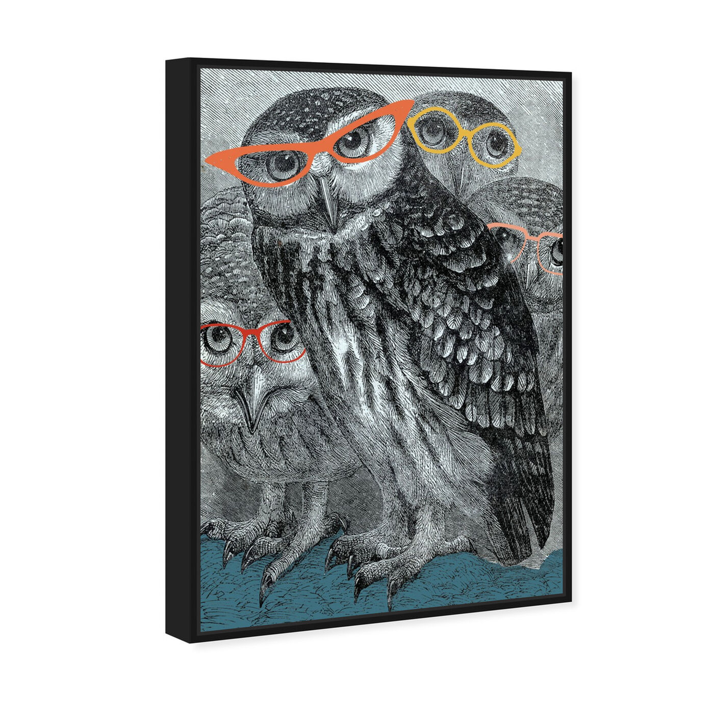 Angled view of All Eyes On Us featuring animals and birds art.