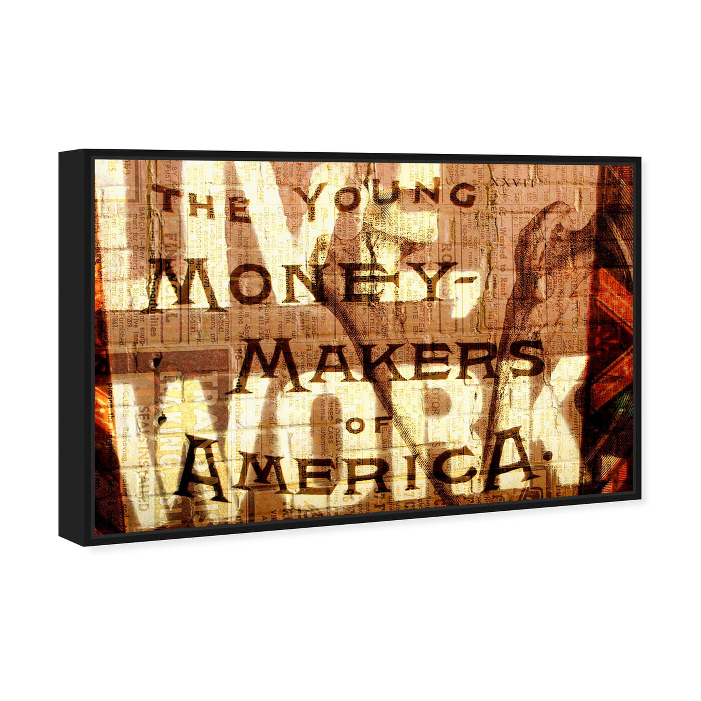 Angled view of Young Money Makers featuring typography and quotes and inspirational quotes and sayings art.