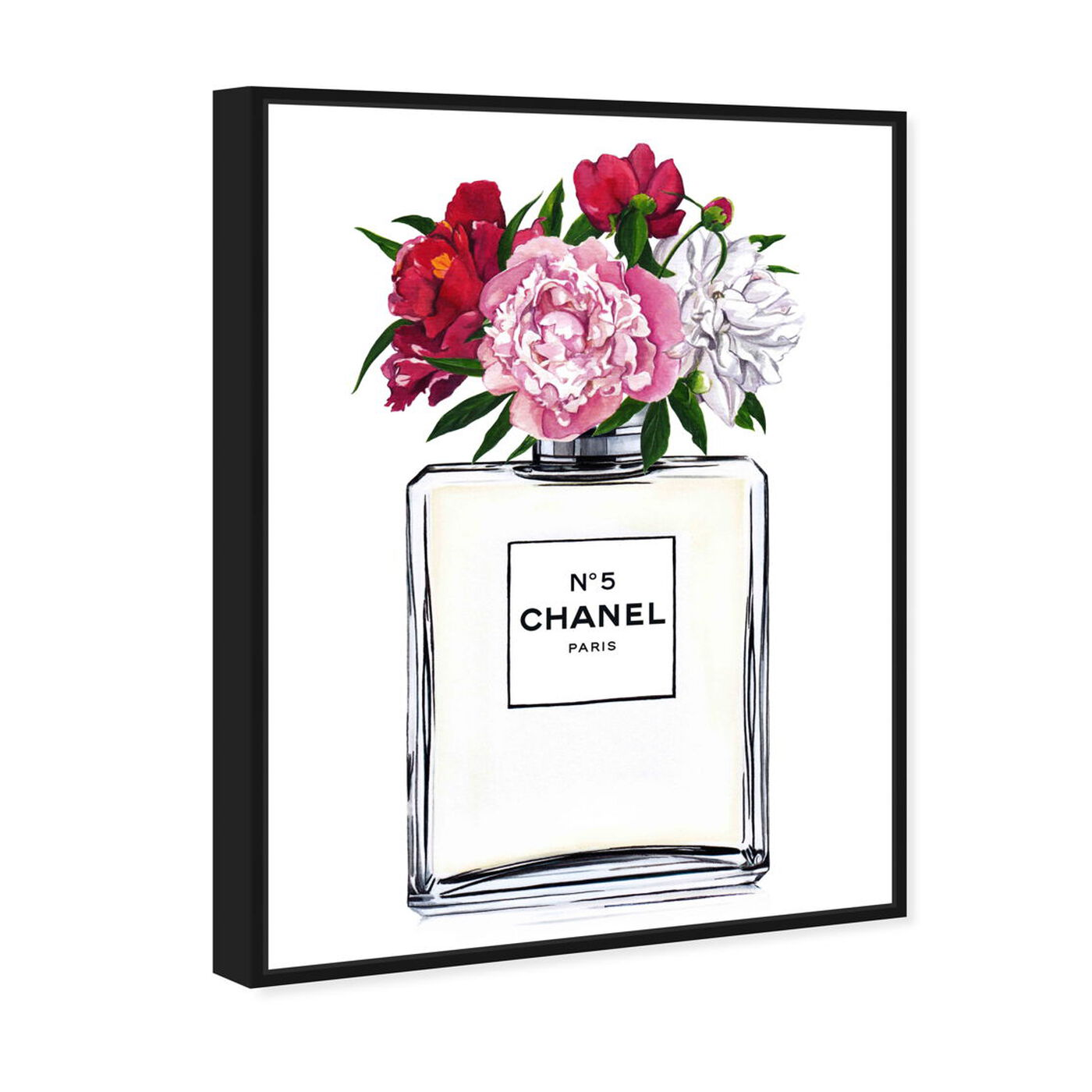 Angled view of Doll Memories - A Woman's Peonies featuring fashion and glam and perfumes art.