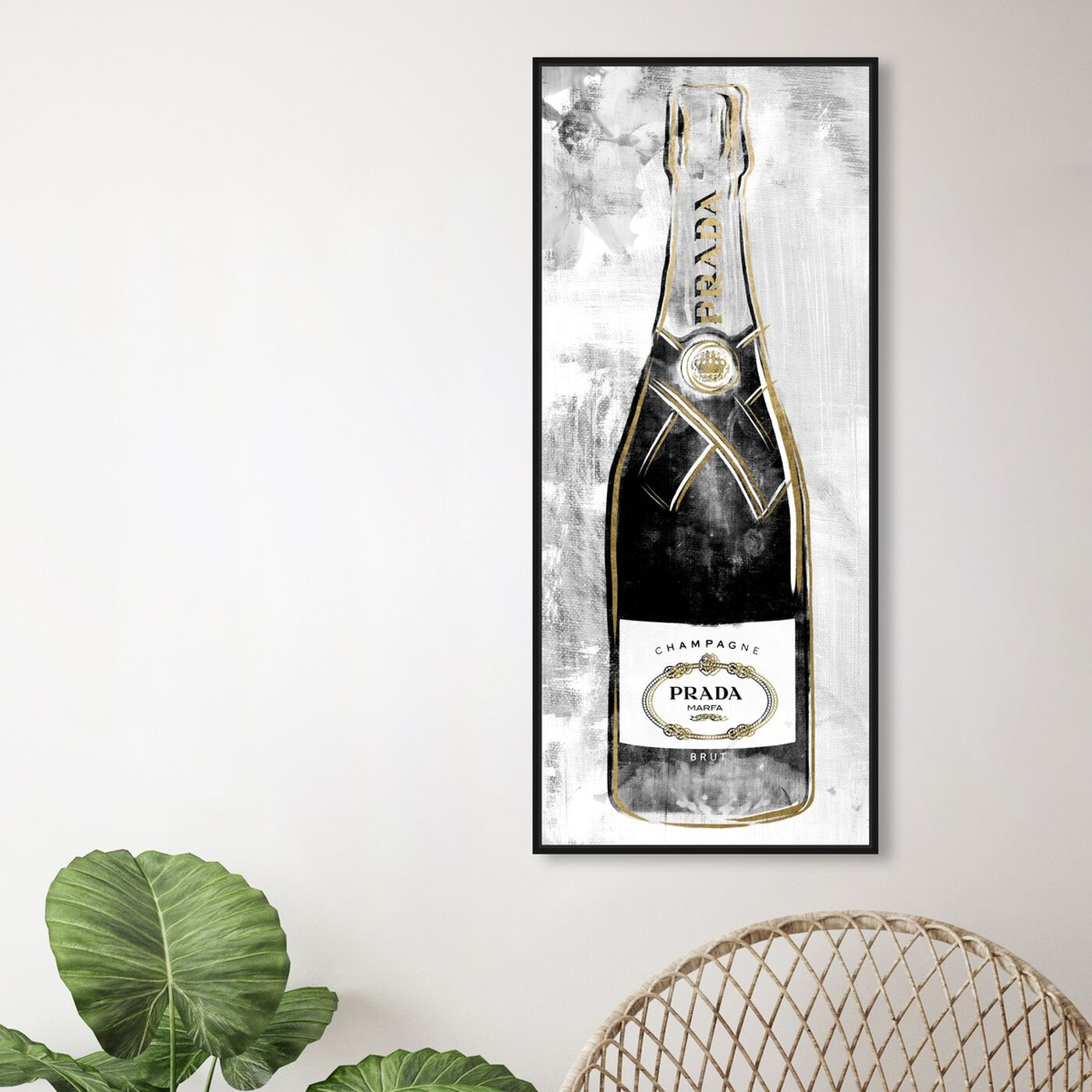 Hanging view of Milan Champagne featuring fashion and glam and lifestyle art.
