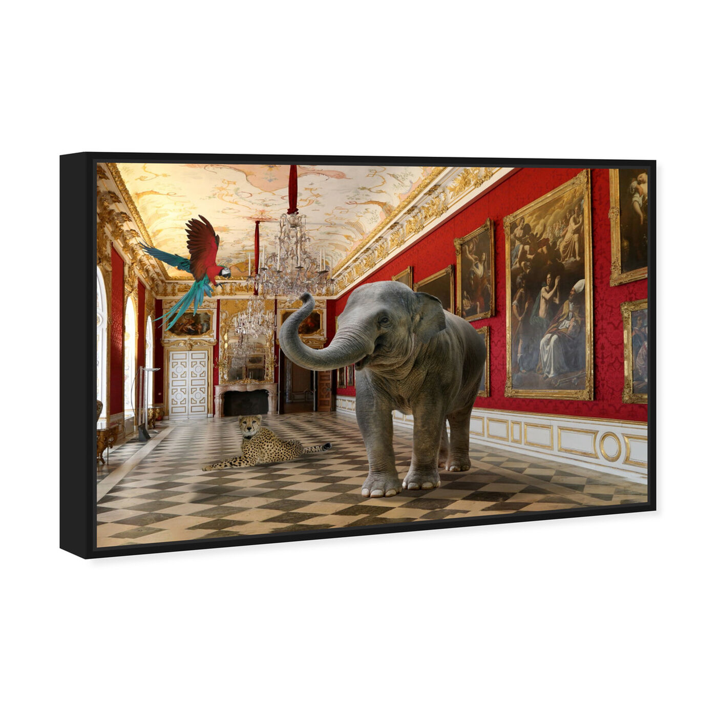 Angled view of Delicate as an Elephant can Be featuring animals and zoo and wild animals art.