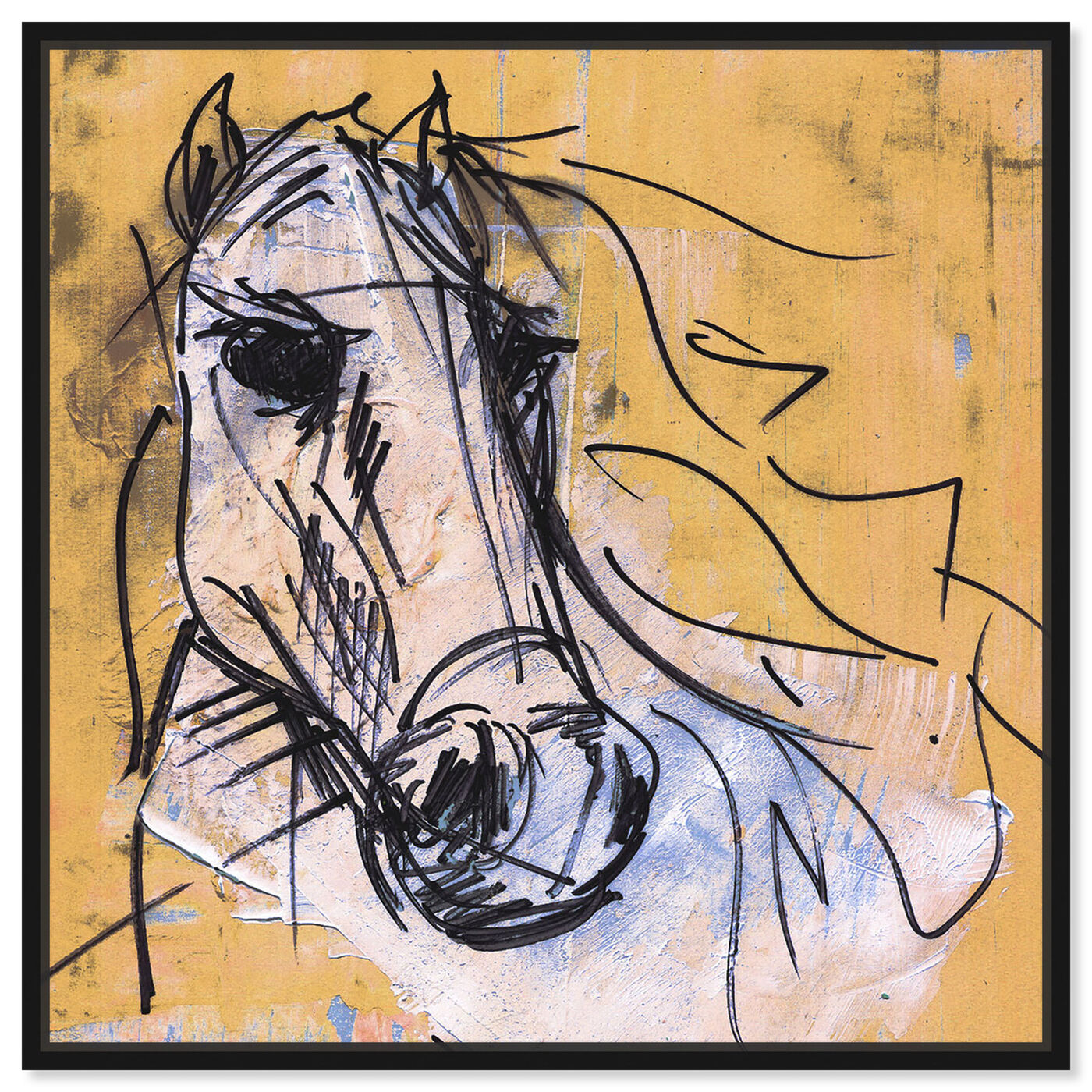 Front view of Horse Study By Carson Kressley featuring animals and farm animals art.