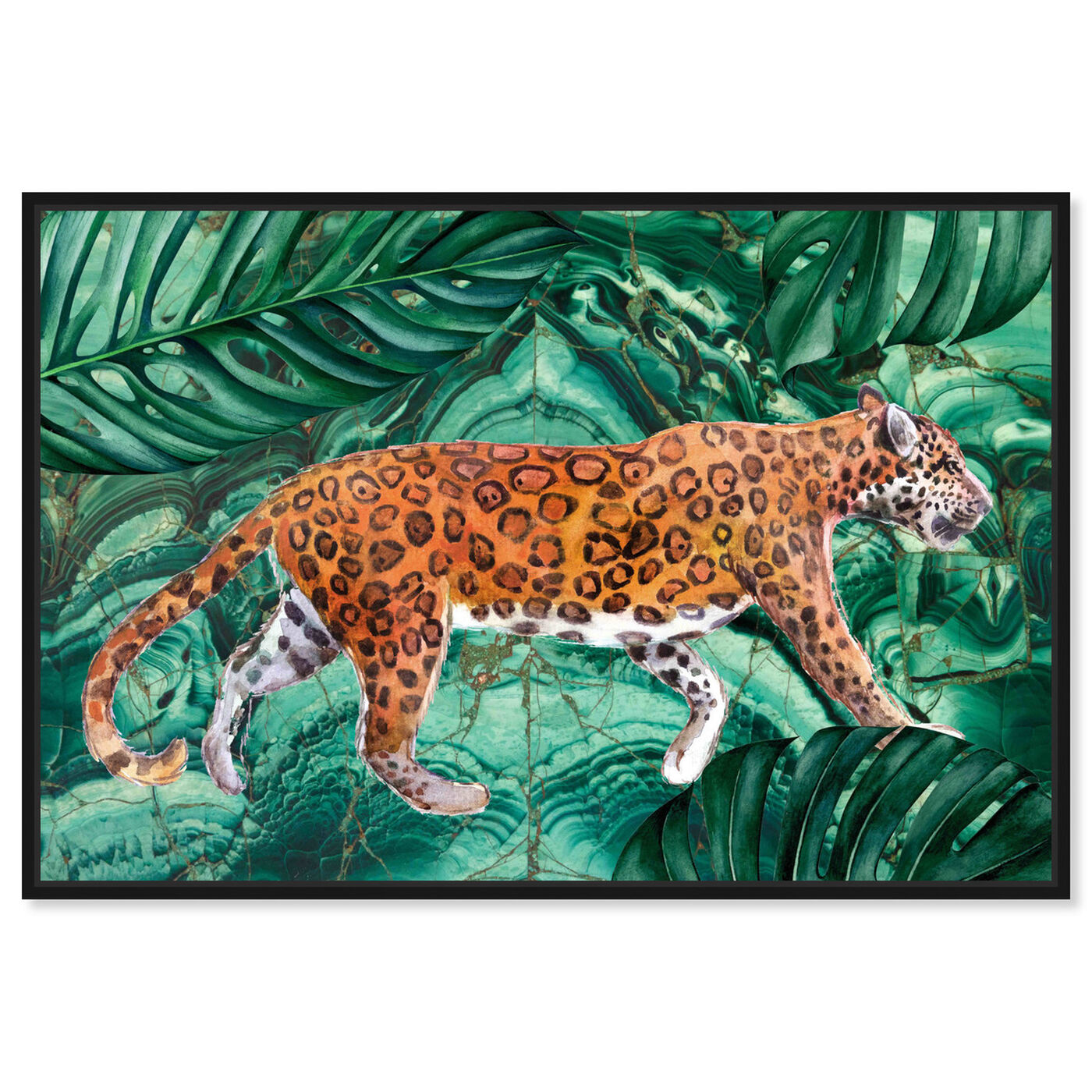 Front view of Cougar Jungle featuring animals and felines art.