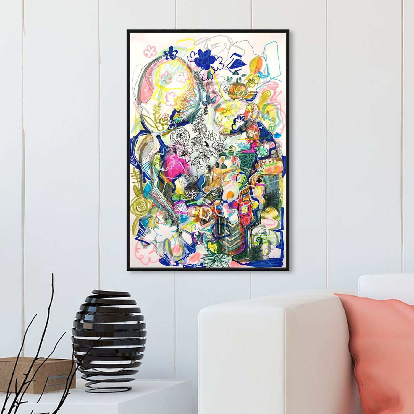 Hanging view of Dancing In The Clouds featuring abstract and textures art.