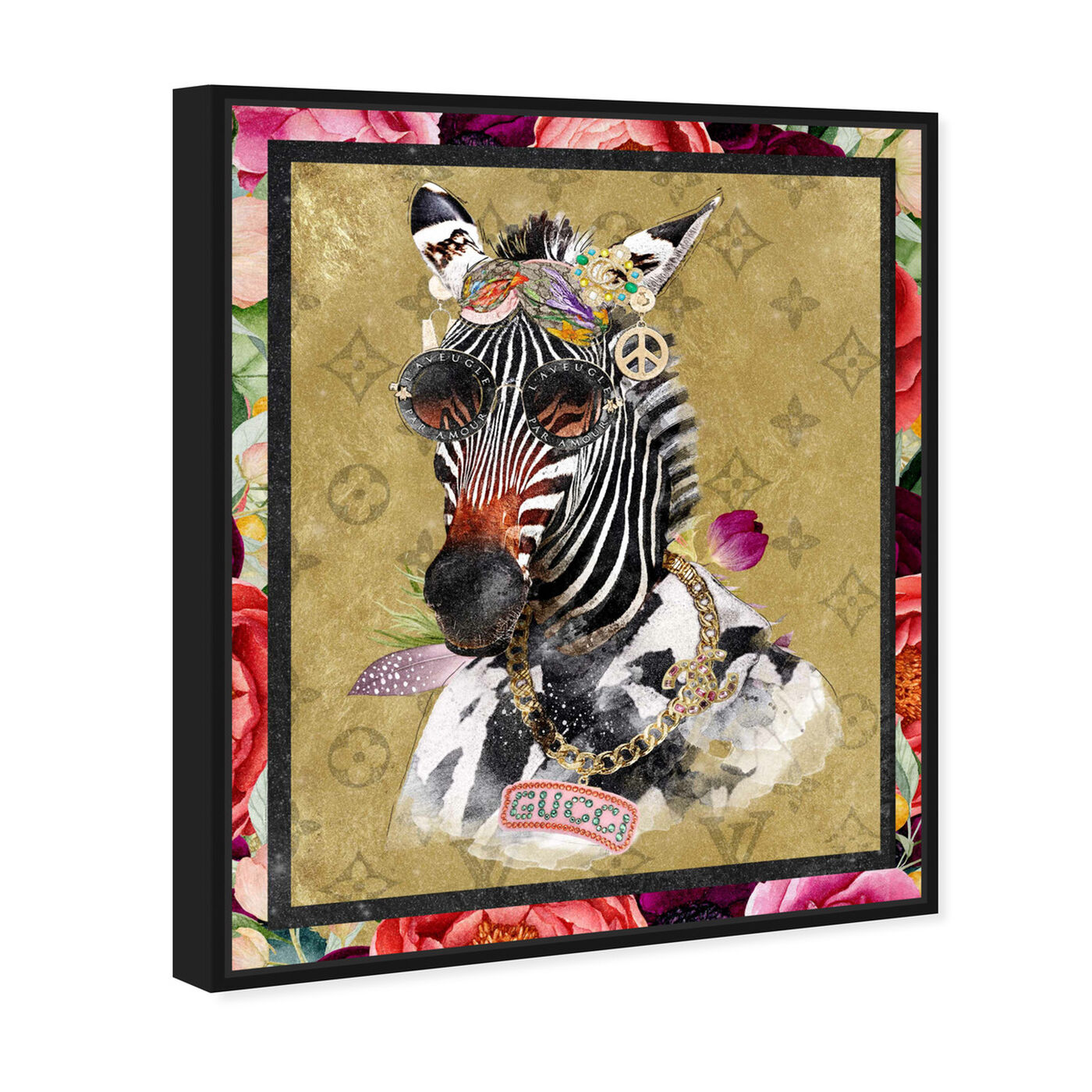 Angled view of Luxe Aunt Portrait featuring animals and zoo and wild animals art.