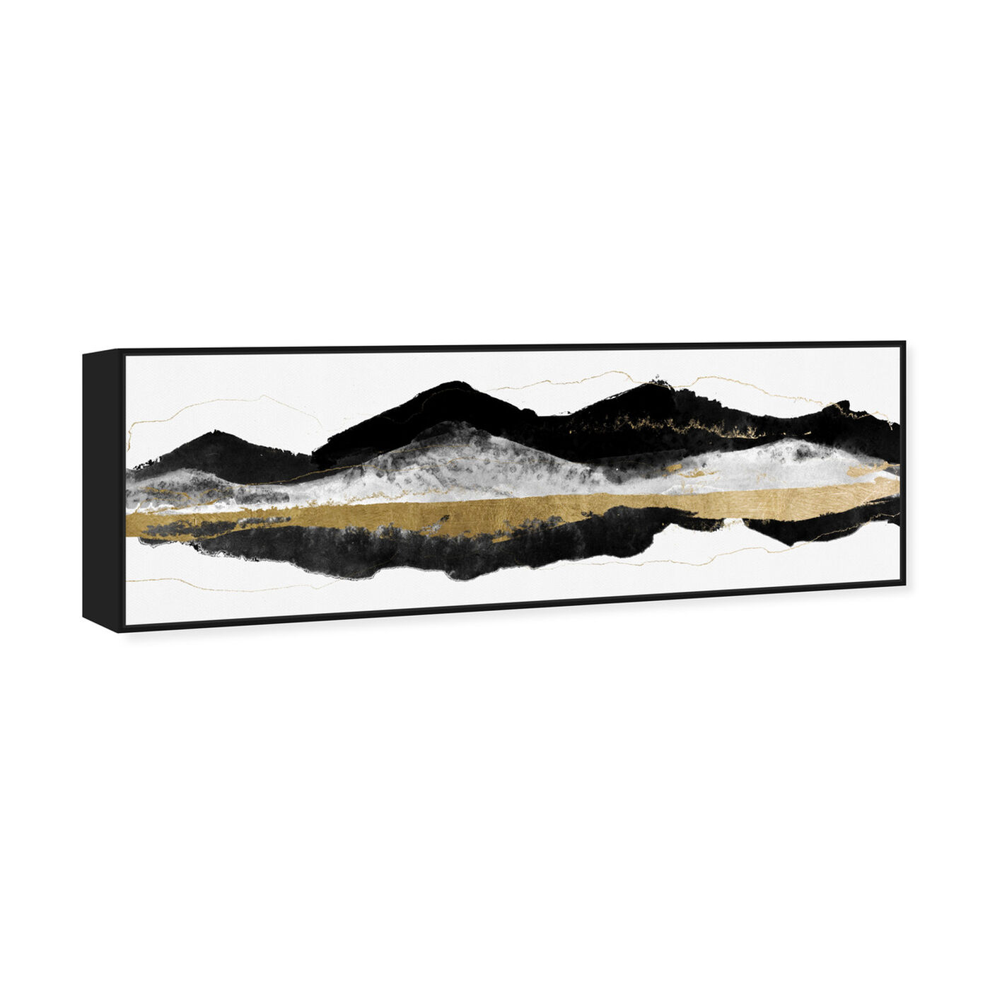 Angled view of Noir et Gold Mountains featuring abstract and paint art.