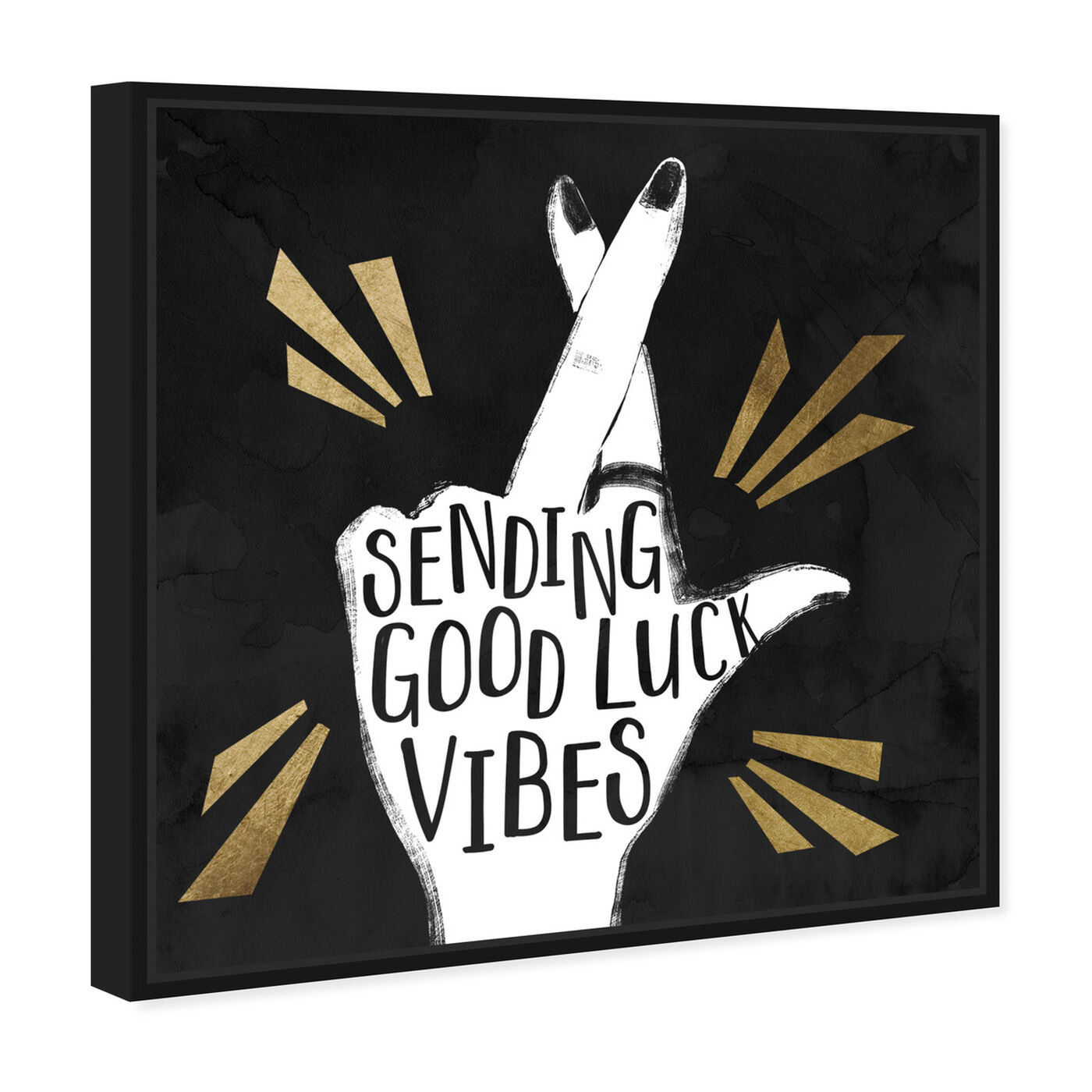 Angled view of Sending Vibes featuring typography and quotes and inspirational quotes and sayings art.
