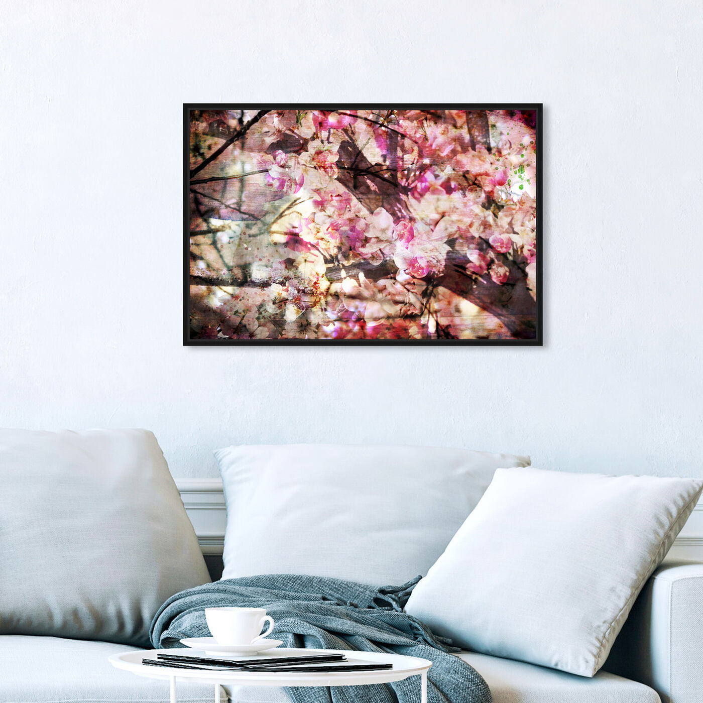Hanging view of Cherry Woods featuring floral and botanical and florals art.