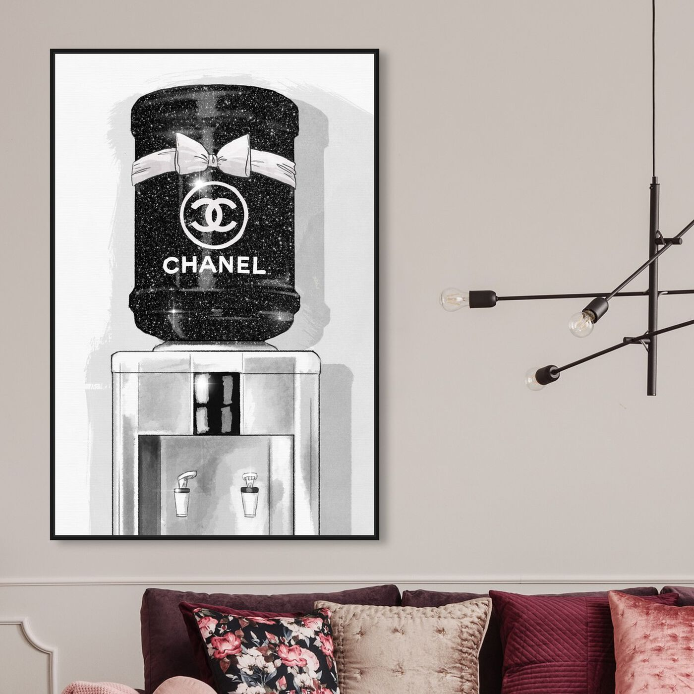 Hanging view of French Luxe Watercooler featuring fashion and glam and fashion art.