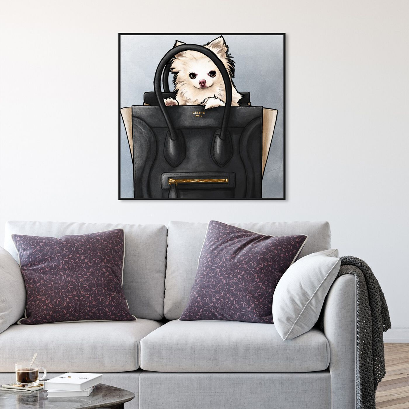 Hanging view of Friendly Peek featuring fashion and glam and handbags art.